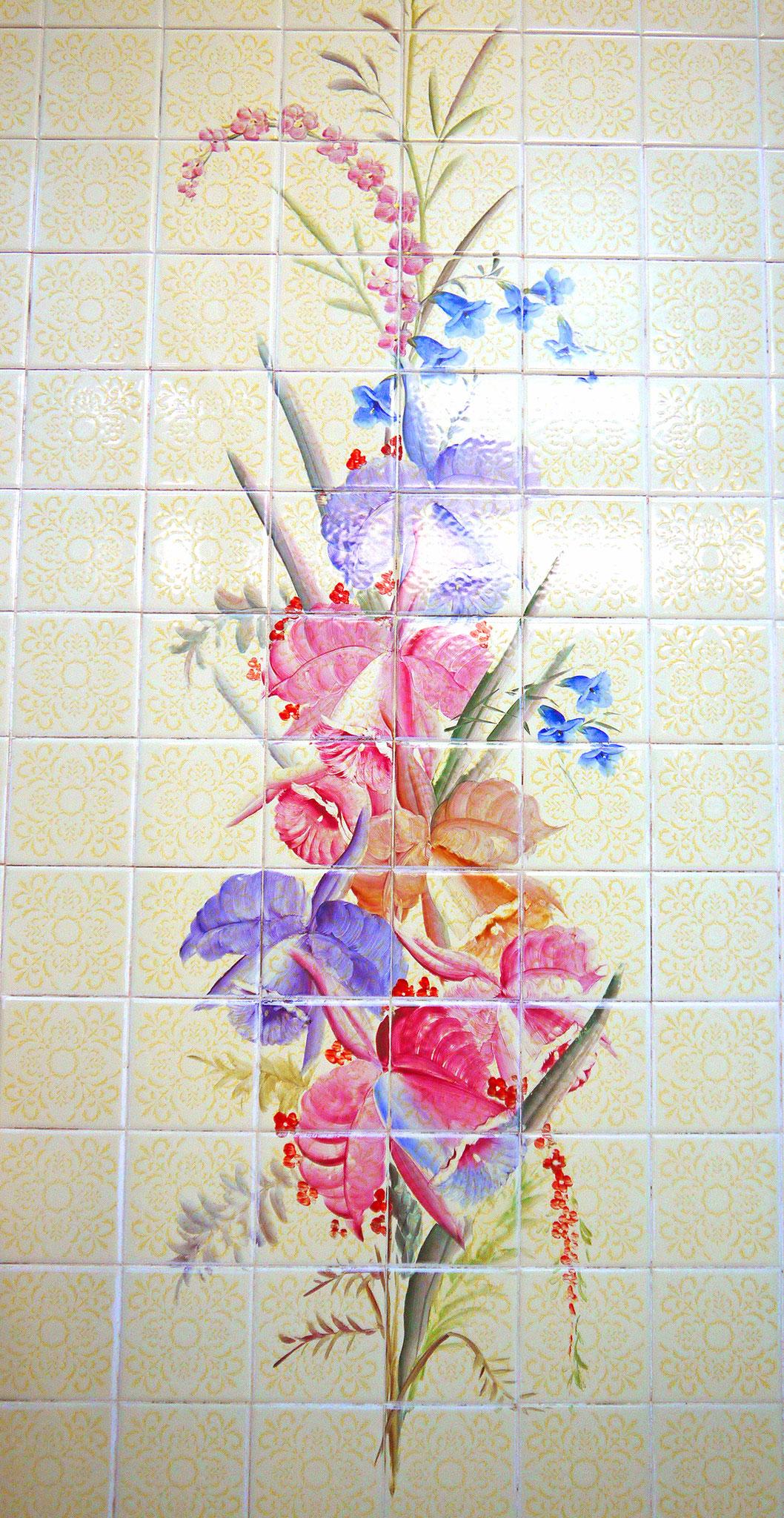 花柄タイル