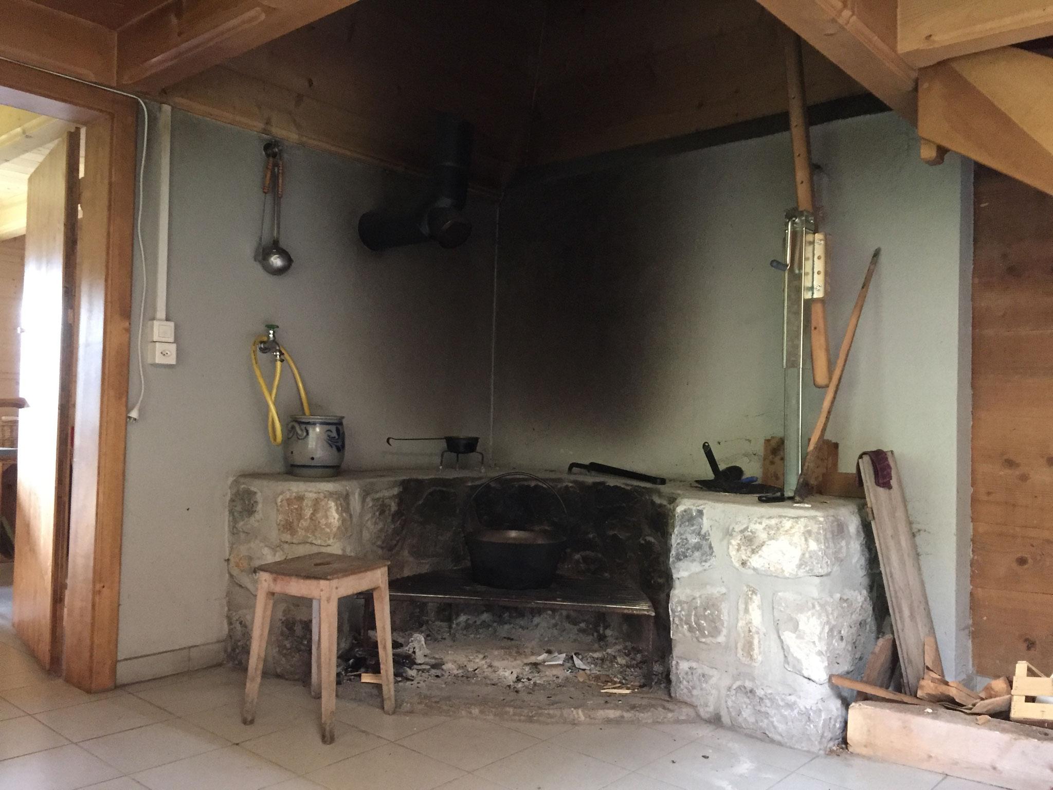 Feuerstelle im Fürhus