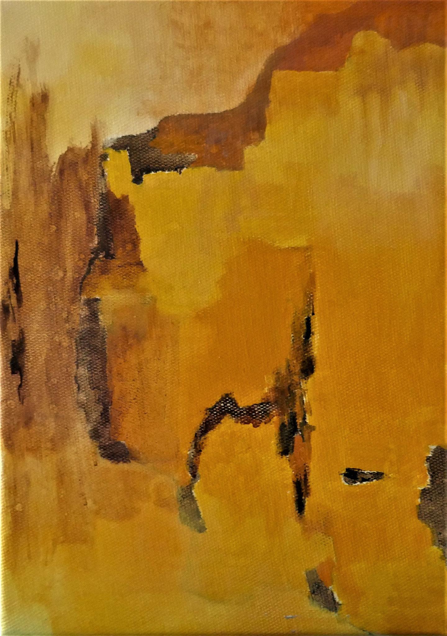 N° 23 : 27 cm X 19 cm : huile sur toile