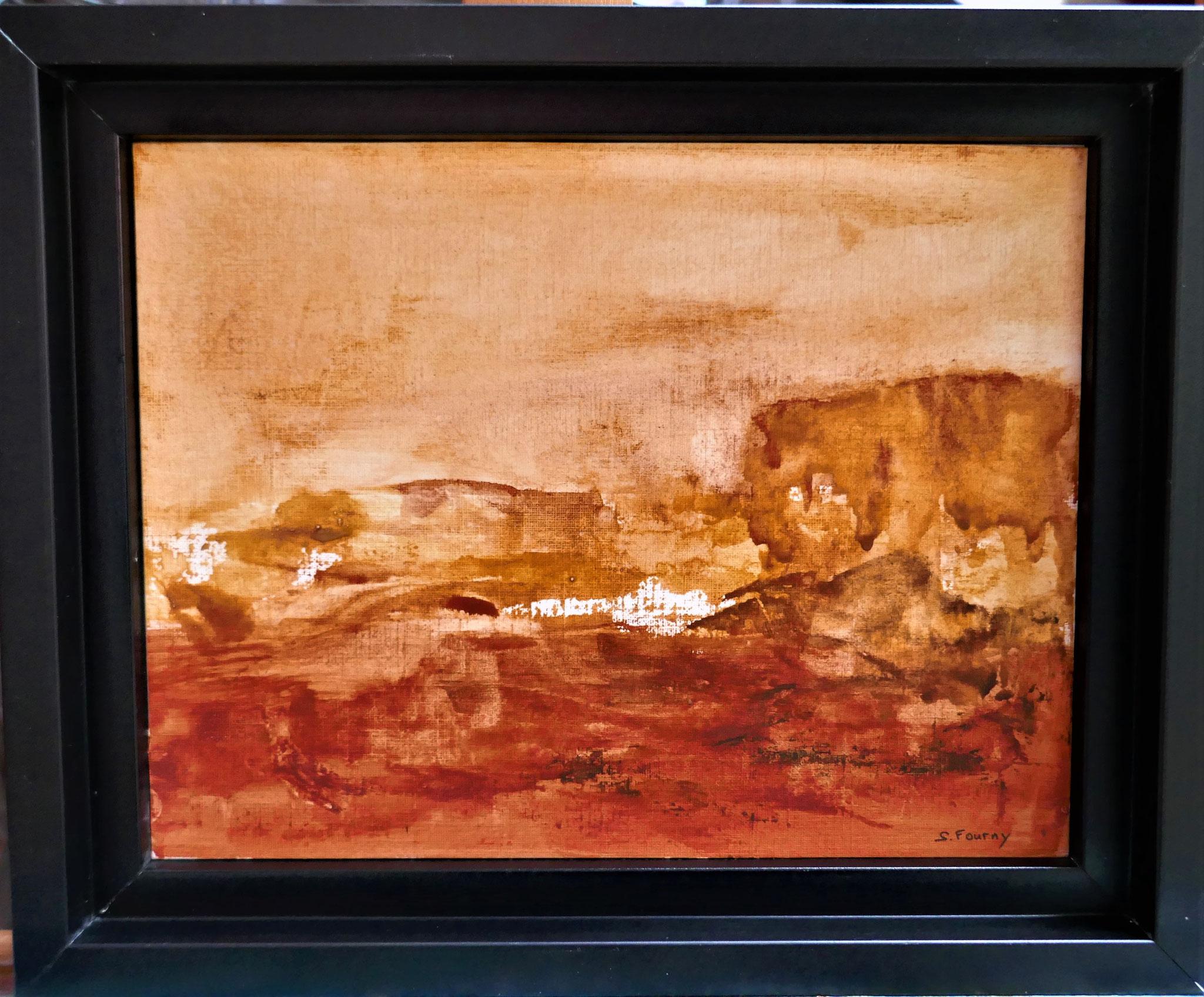 N°35 : 19 cm X 24 cm  : pigments aquarellés sur papier