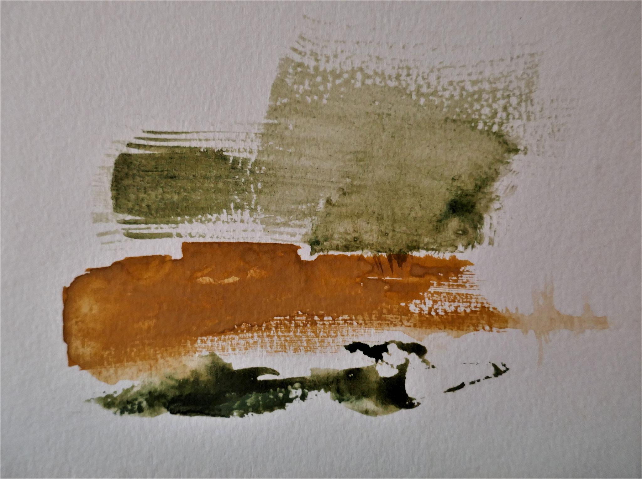 N°42 : 15 cm X 20 cm : pigments aquarellés sur papier