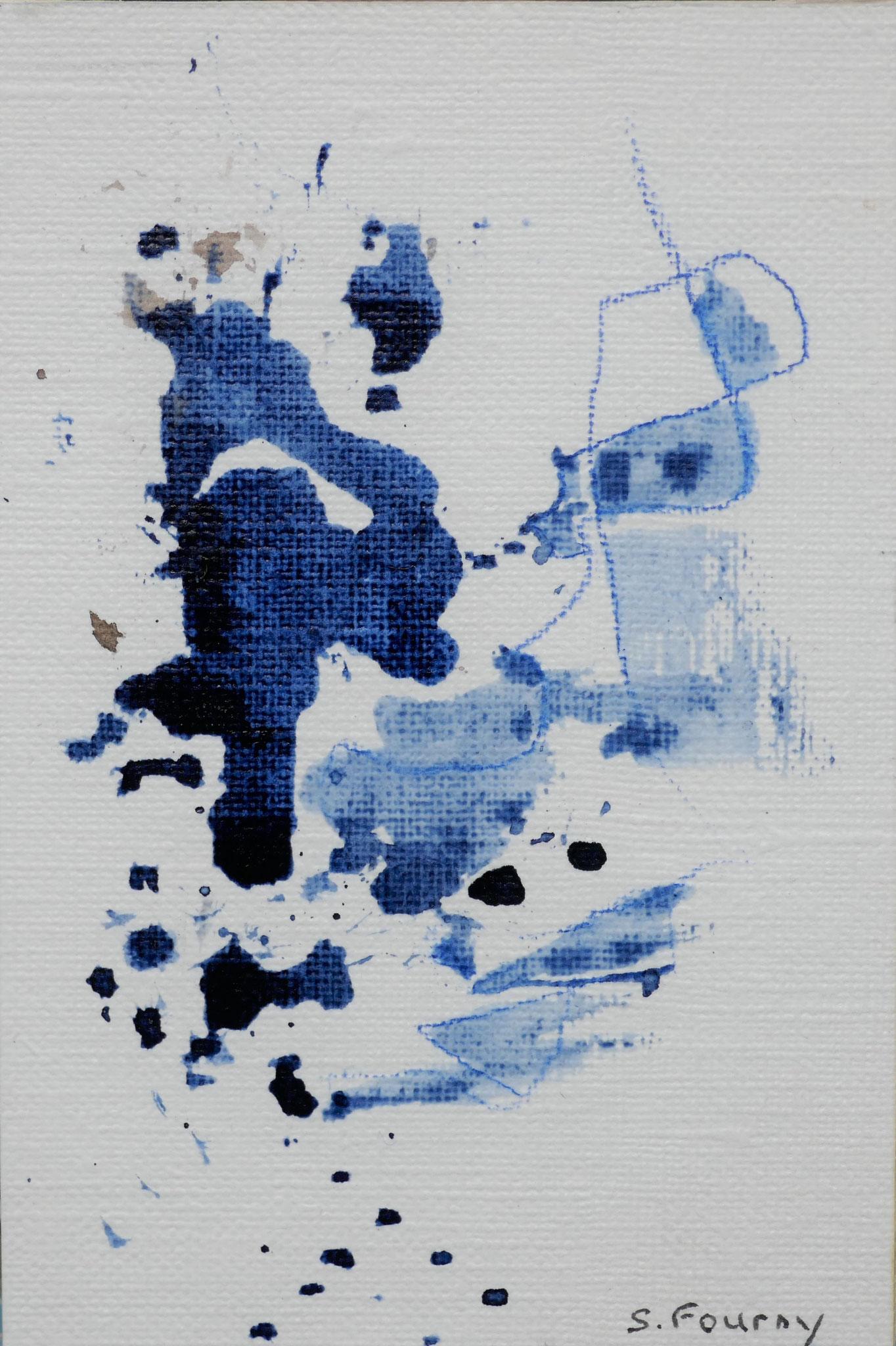 N°47 : 10,5 X 7 cm : encre de chine et crayon aquarellé sur papier