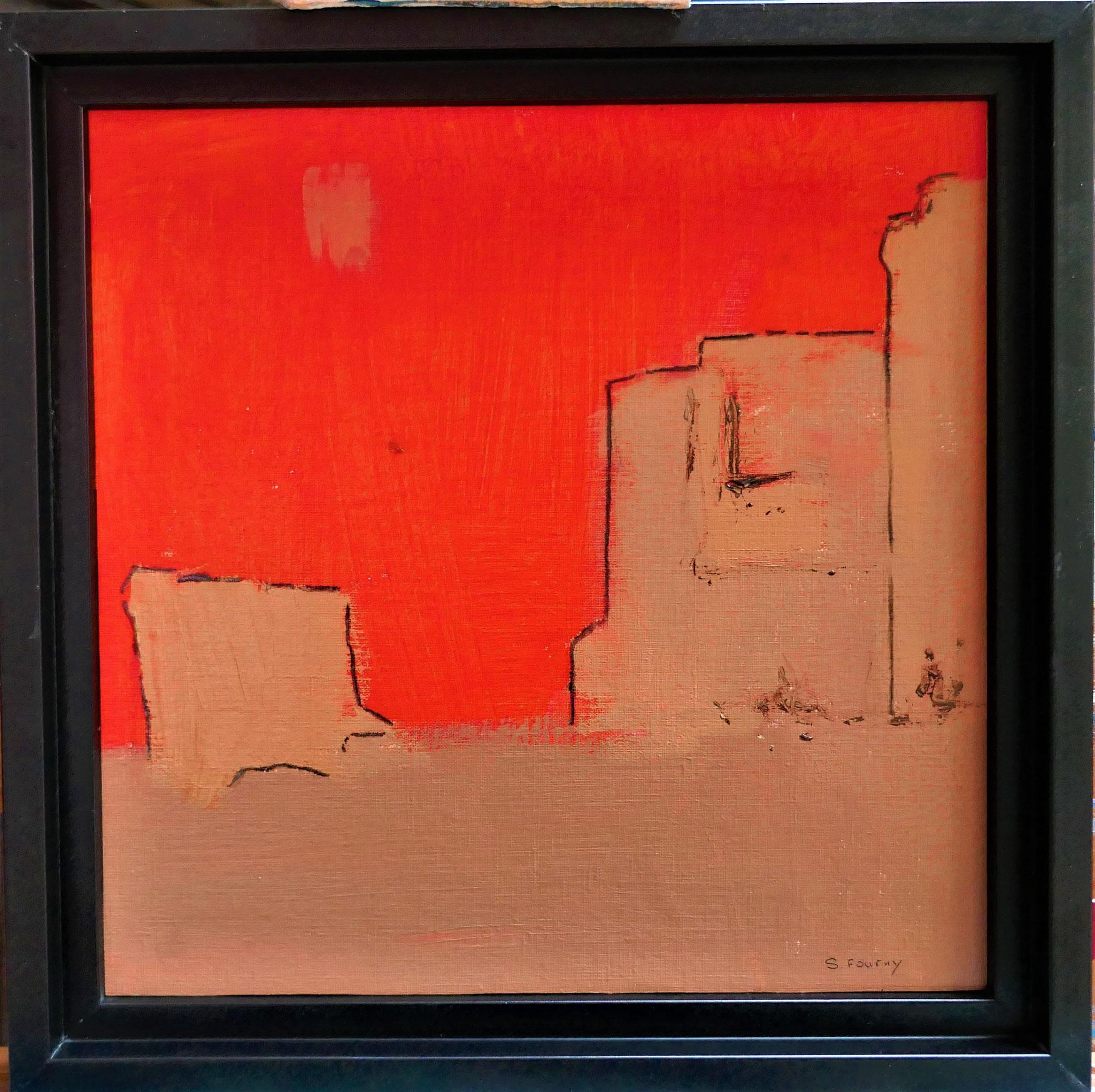 N°34 : 31 cm X 31 cm  : huile sur papier et fusain