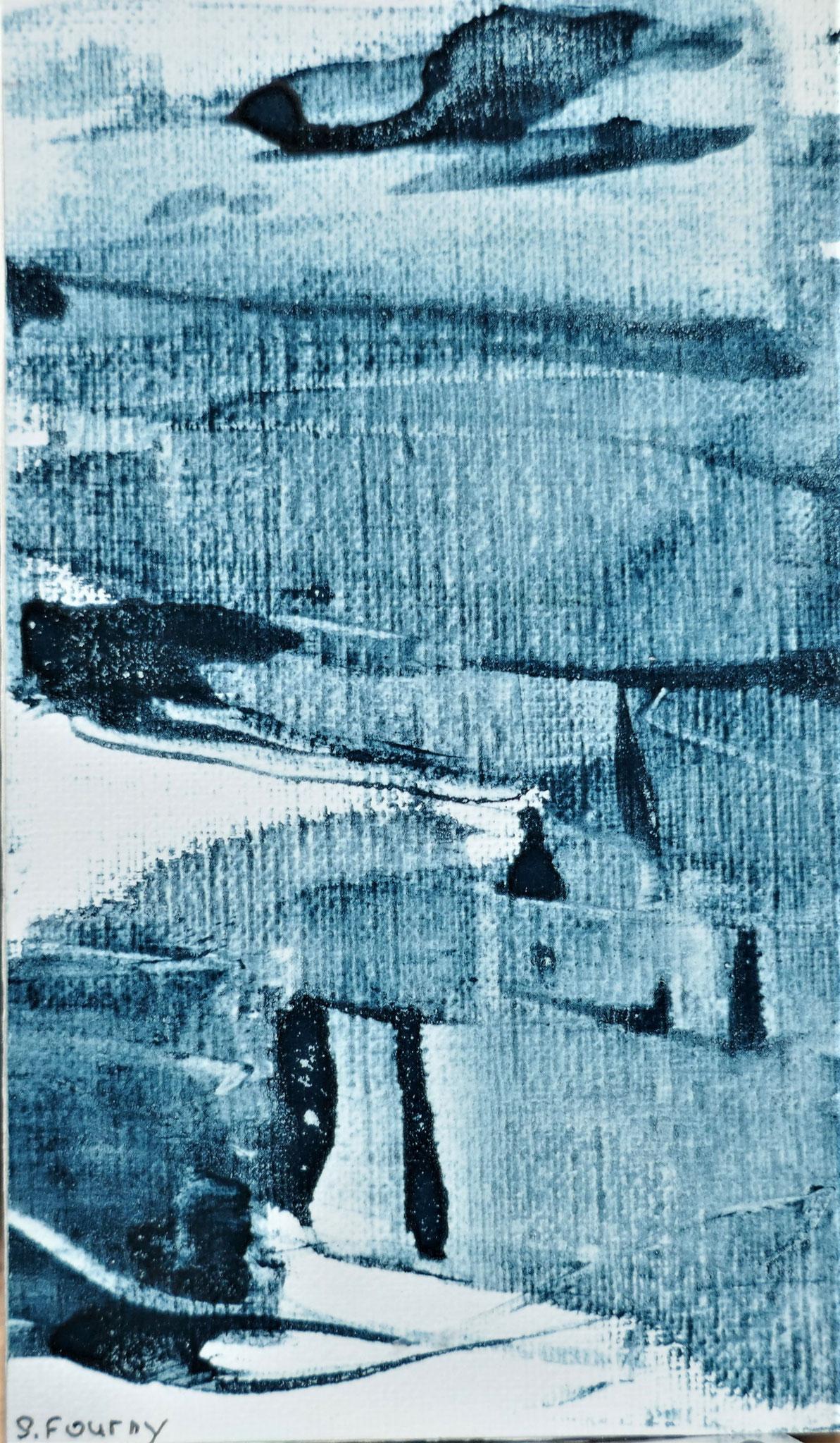 N°46 : 13 X 8 cm : pigments aquarellés sur papier