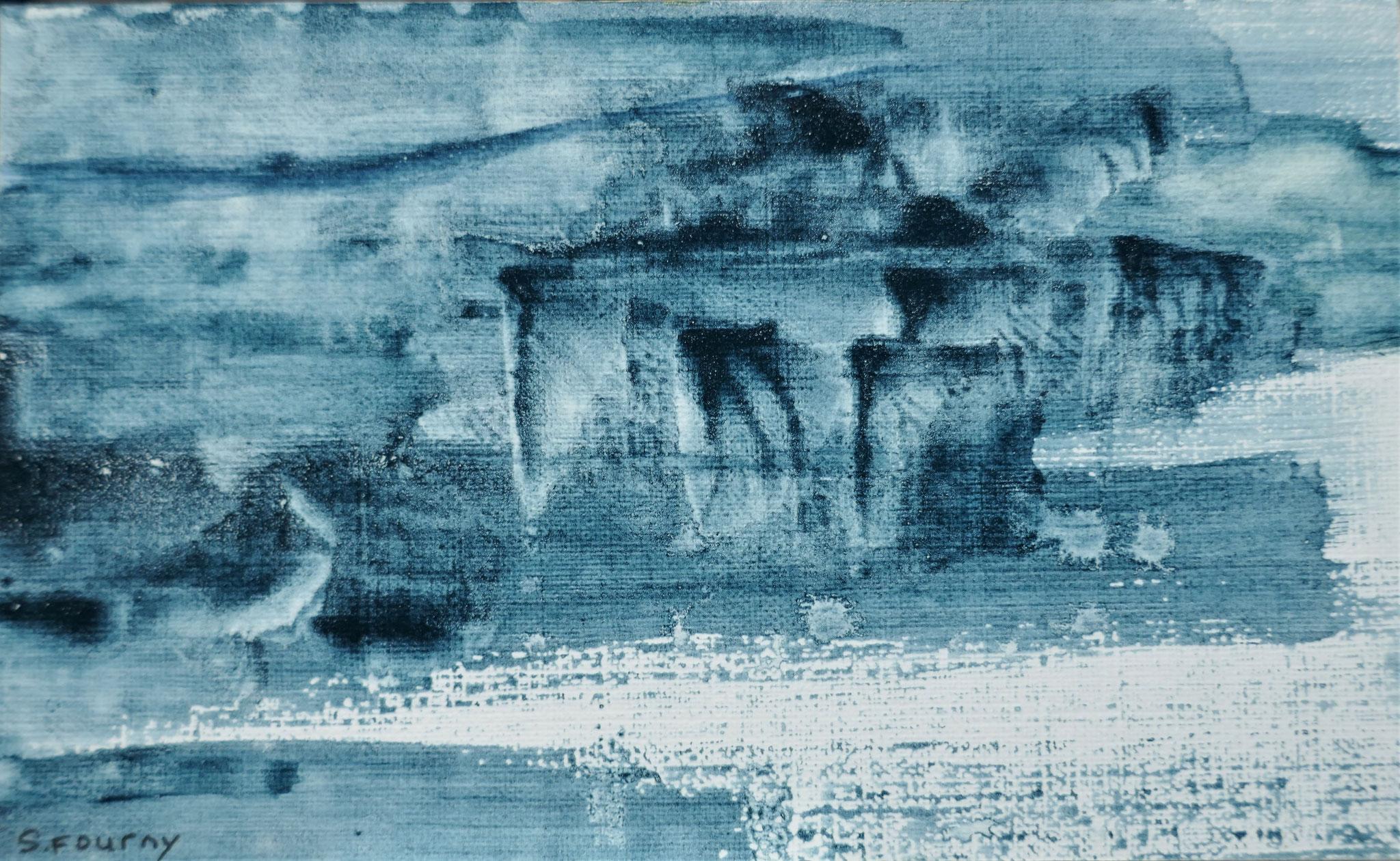 N°45 : 10,5 X 17,5 cm : pigments aquarellés sur papier
