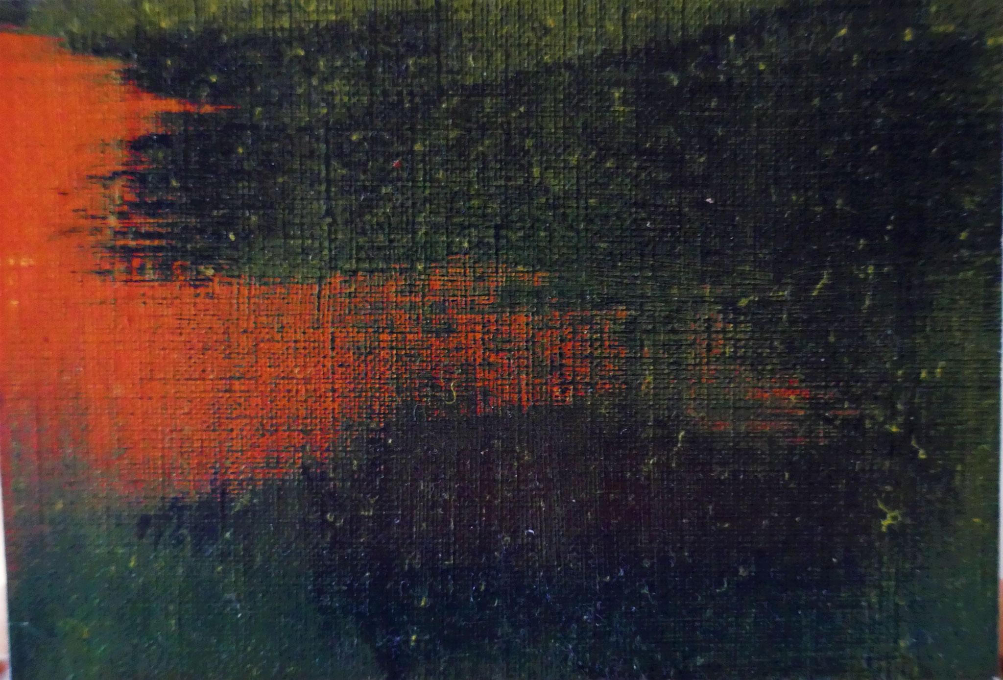 N°33 : 9,5 cm X 14 cm : huile sur papier