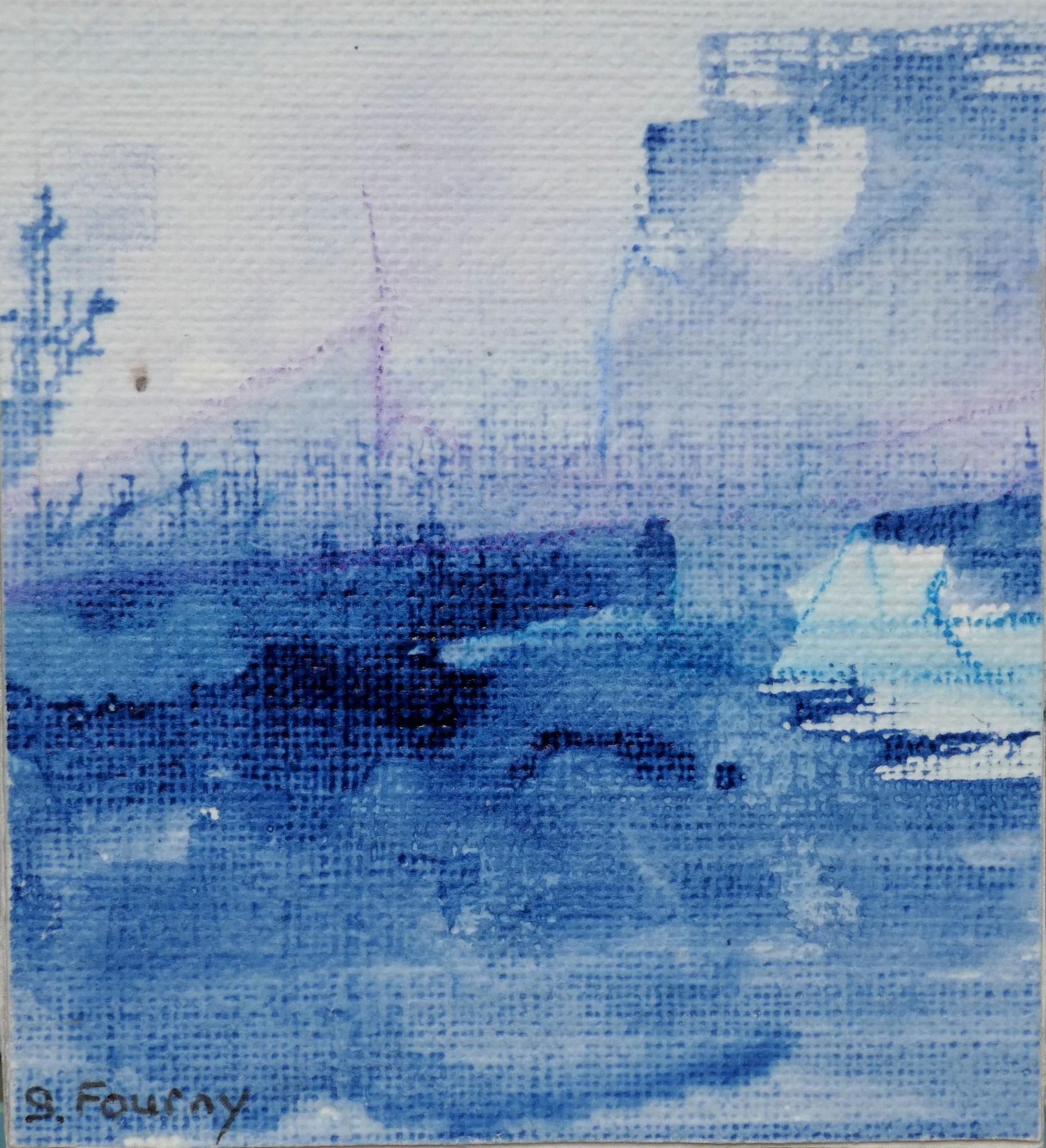 N°48 : 6,5 X 6 cm : encre de chine et crayon aquarellé sur papier