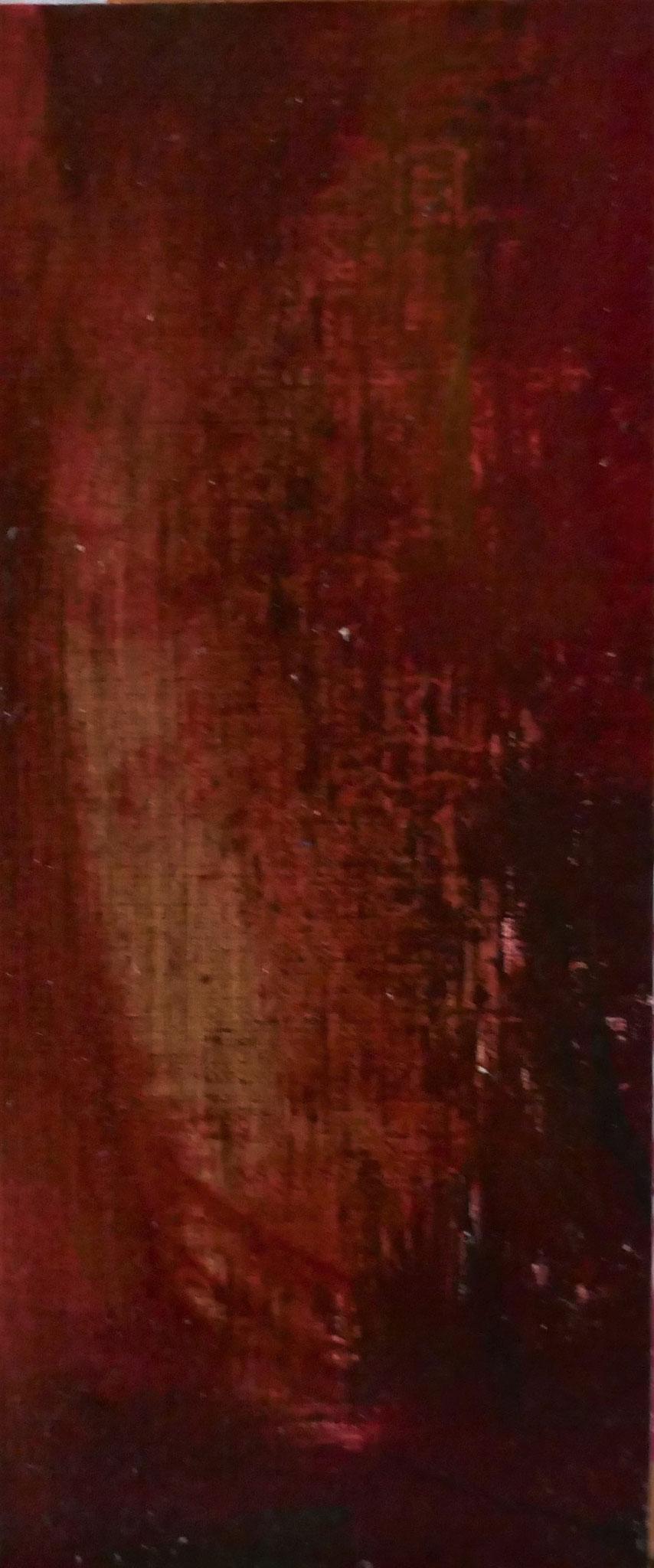 N°31 : 19,5 cm X 8 cm : huile sur papier
