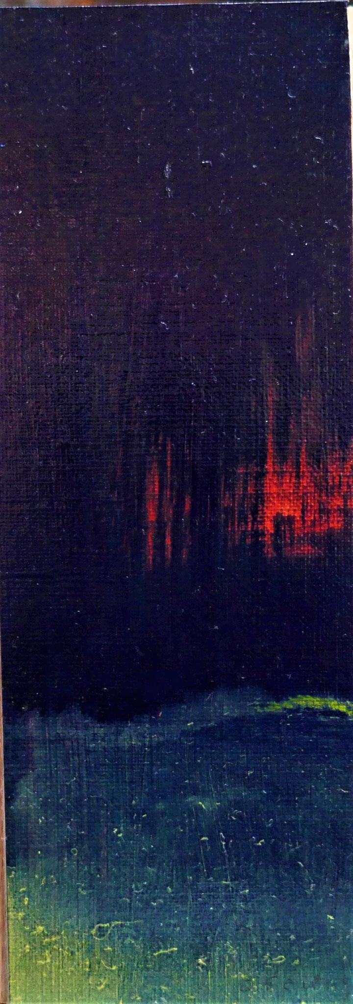 N°51 : 18 cm X 6,4 cm : huile sur papier