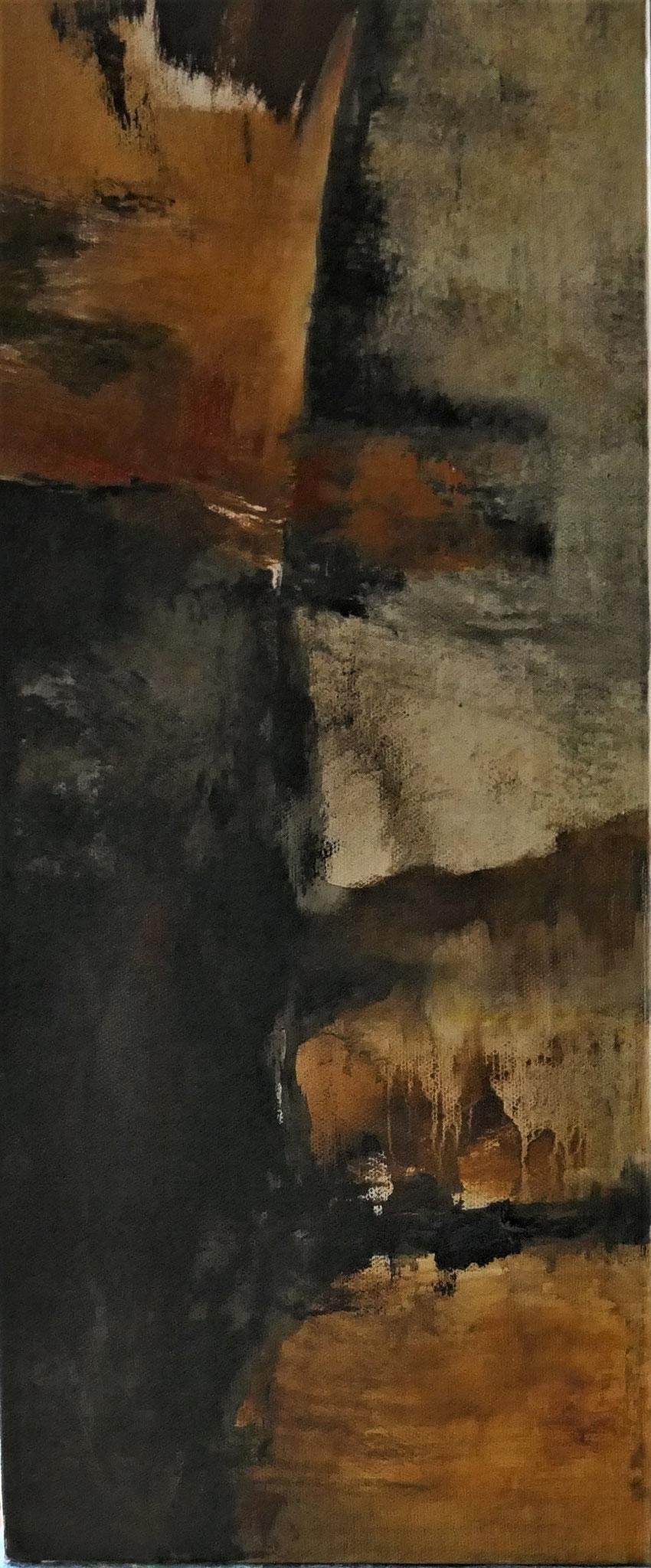 N°15 : 50 cm X 20 cm : huile sur toile