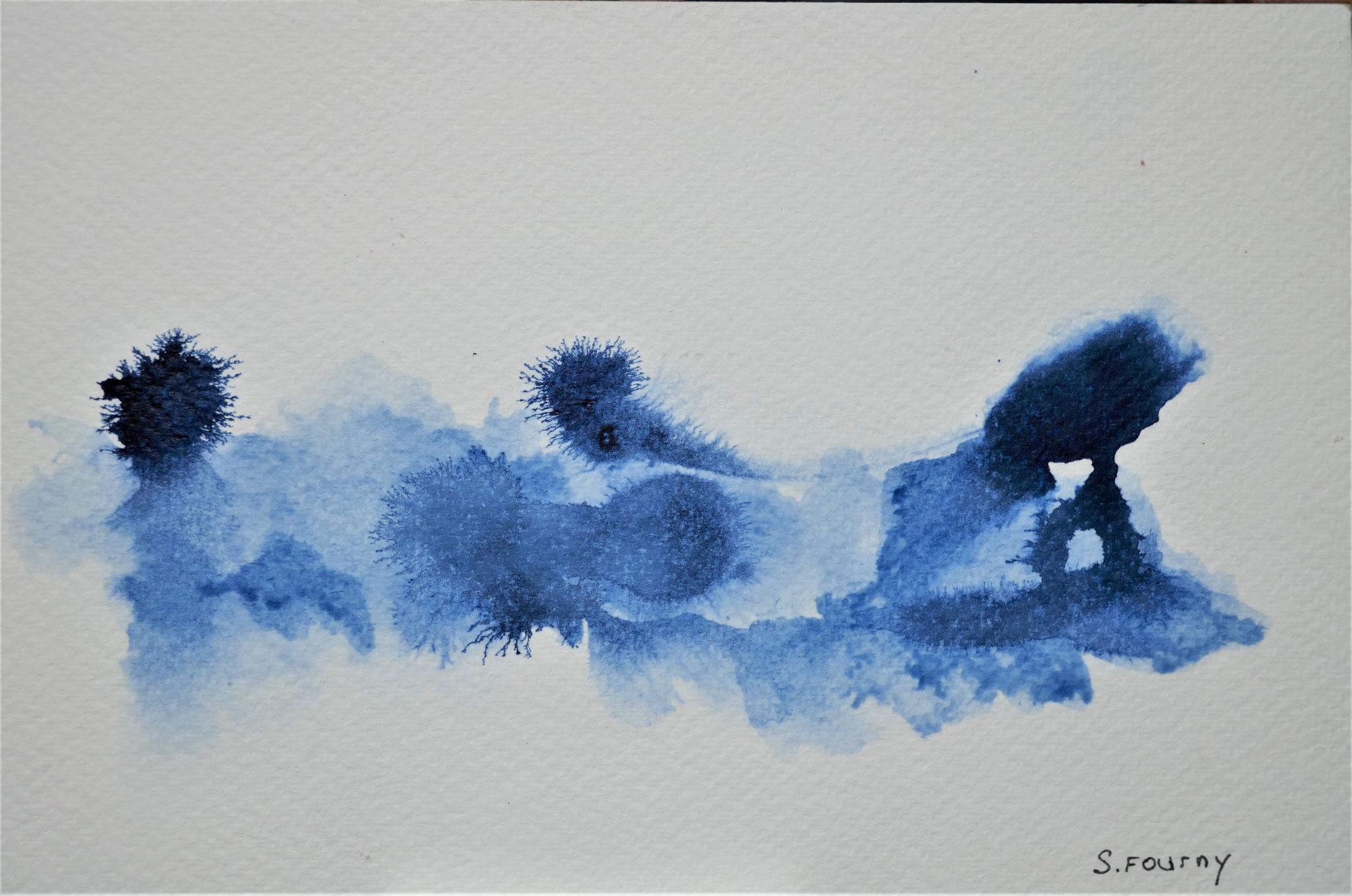 N°50 : 13,5 X 22 cm : encre de chine sur papier