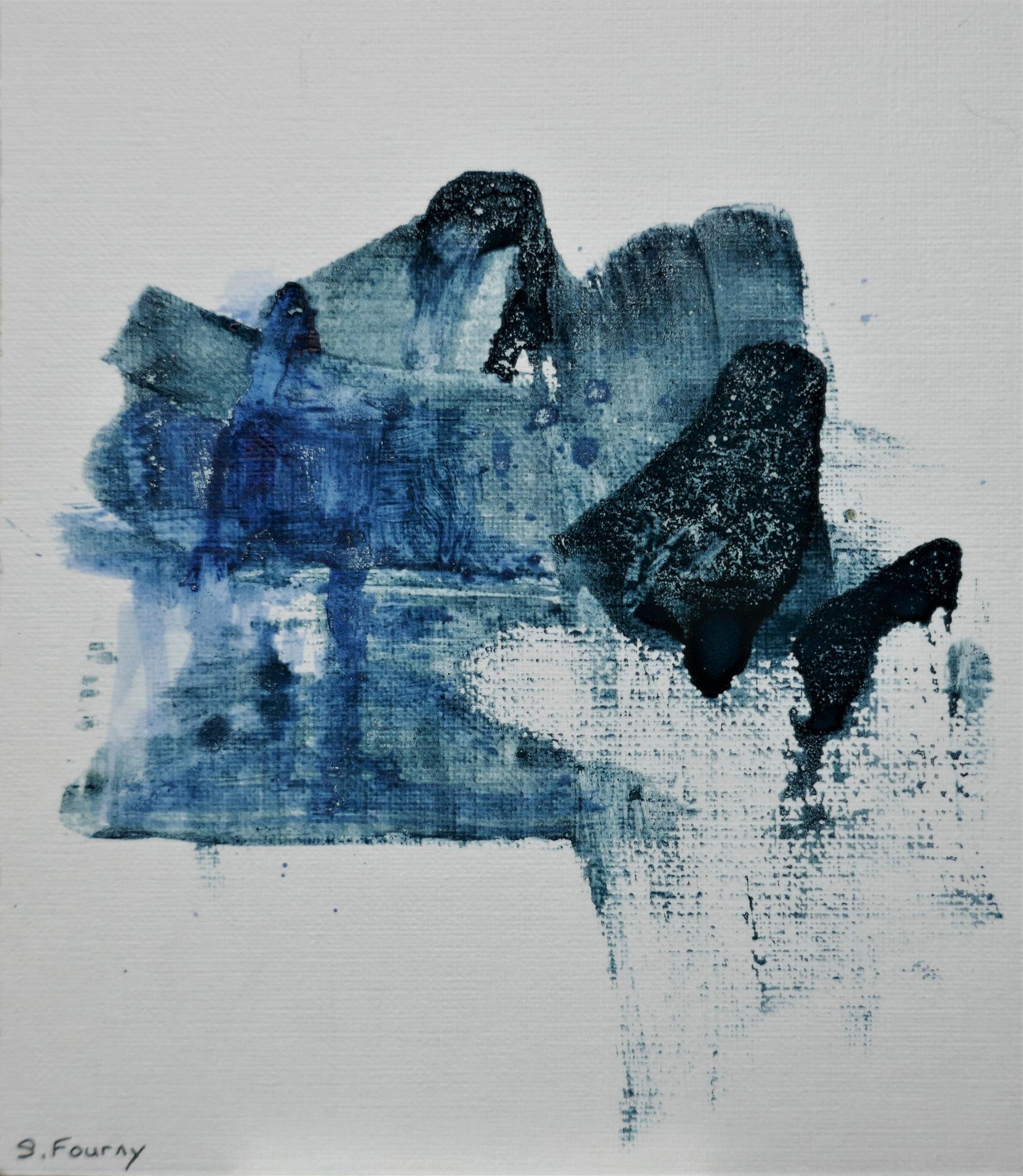 N°44 : 15 X 13 cm : pigments aquarellés et encre sur papier