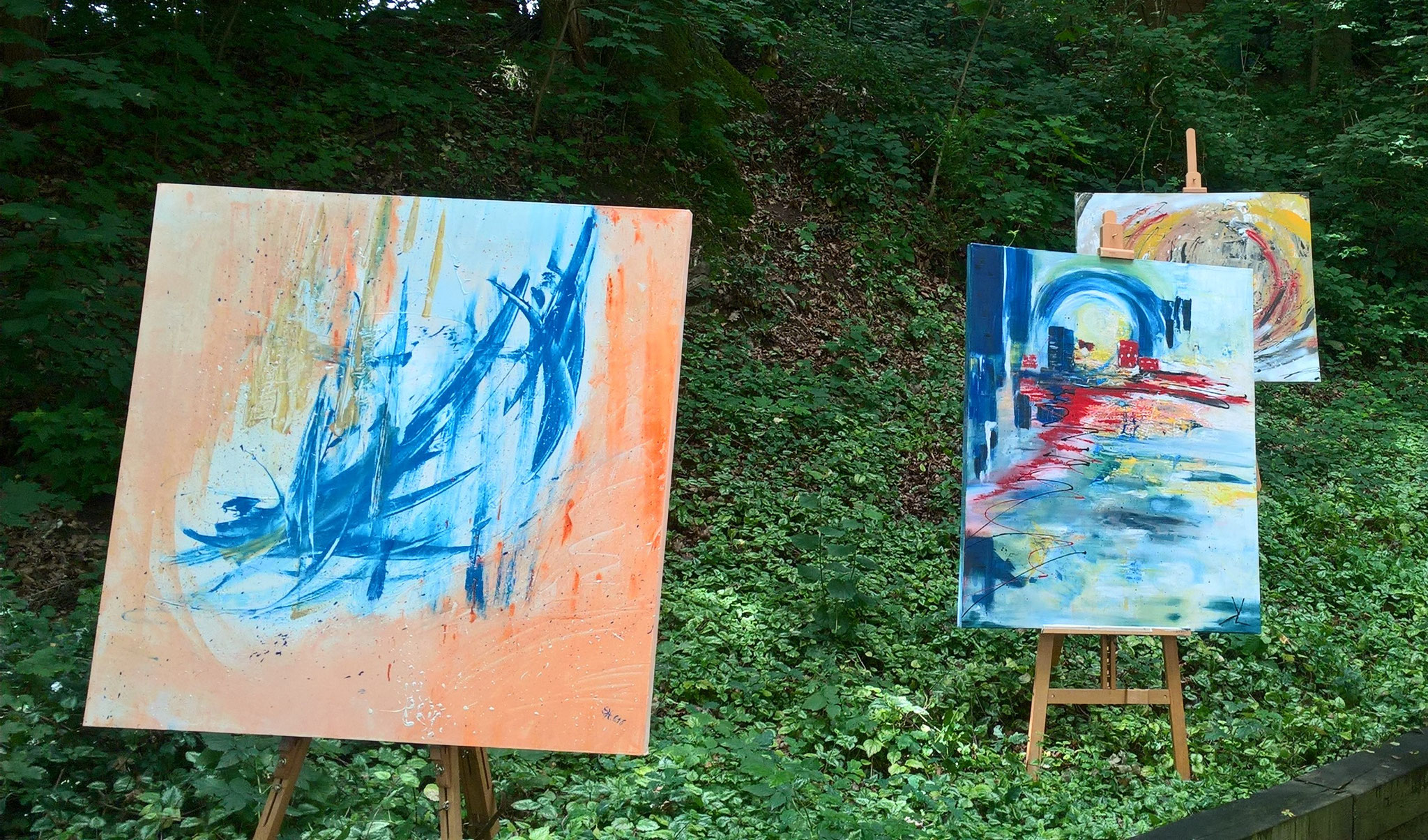 Action Painting mit Acryl