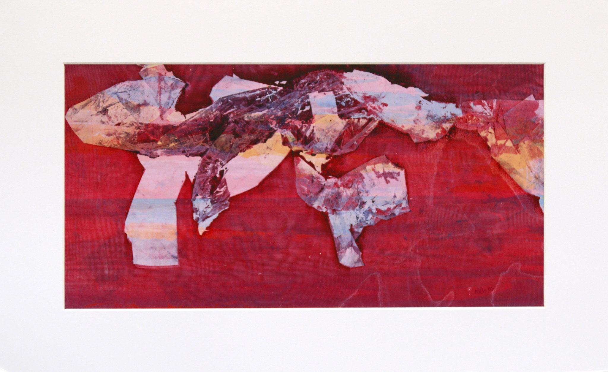 Untitled 46 x 23 cm Mixed media (59 x 36 cm mounted)