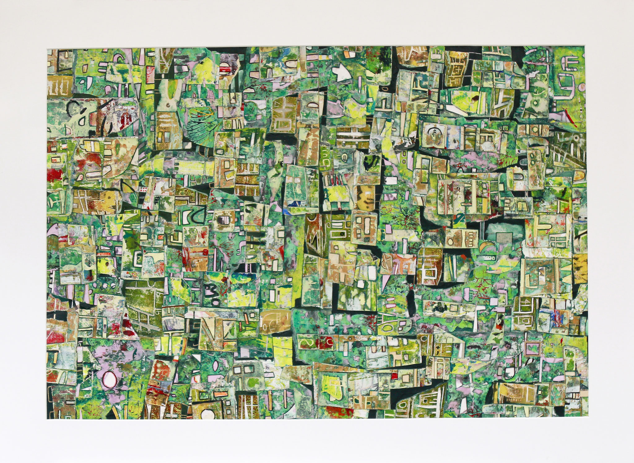 Green Favela 2017 Mixed media 82 x 56 cm (97 x 72 cm mounted)