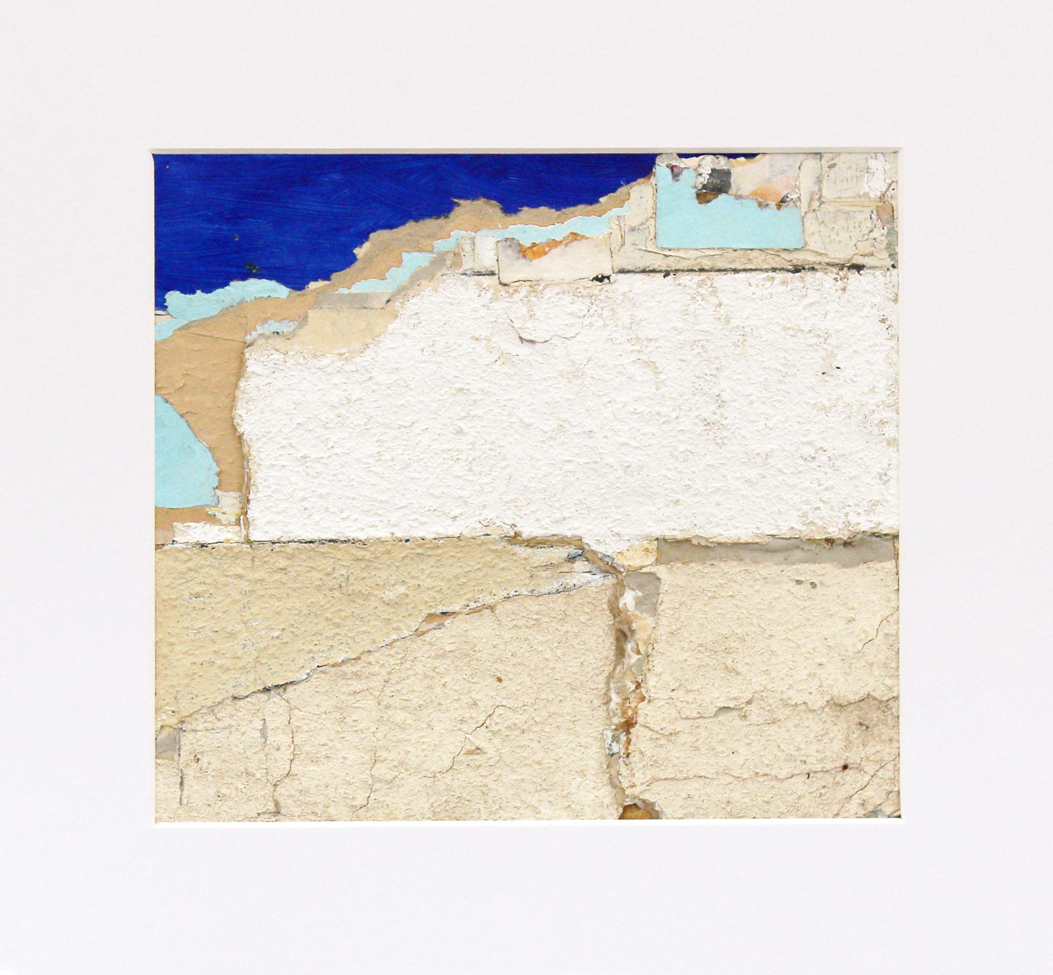 Shoreline 24 x 22 cm Mixed media (35 x 32 cm mounted)