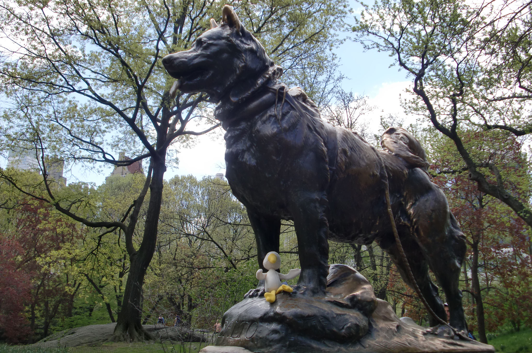 Central Park statua balto 2011