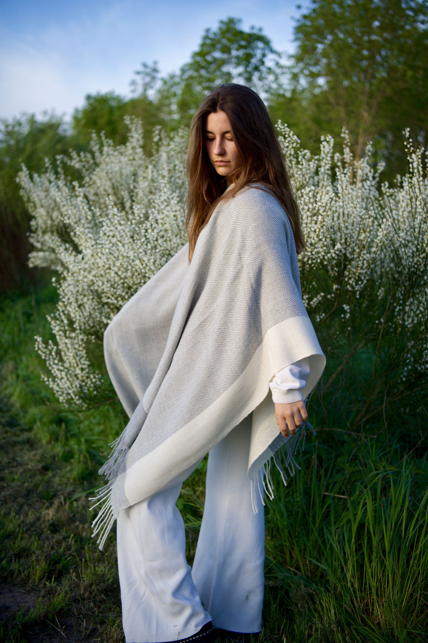 Handgeweven Alpaca cape