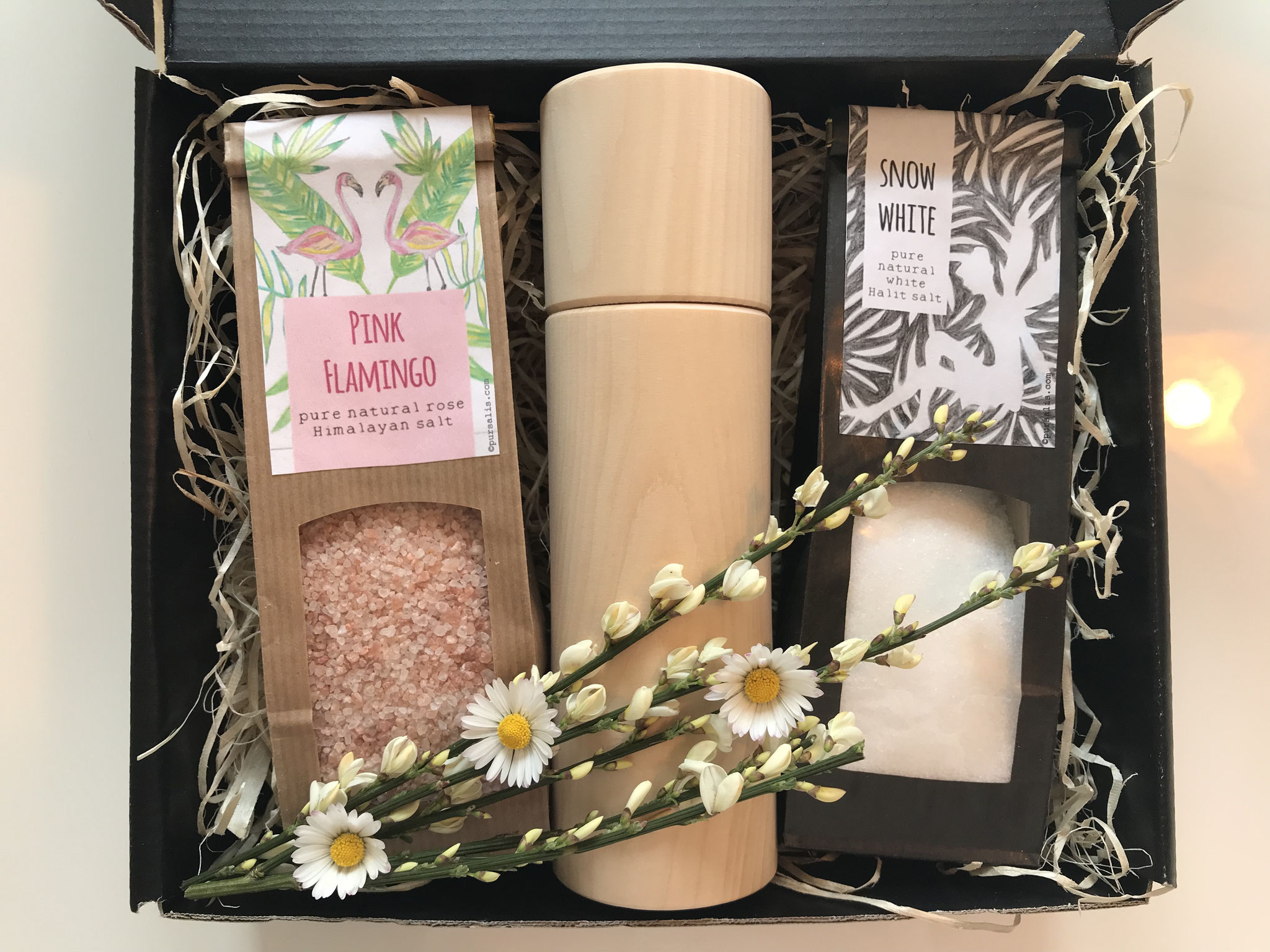 Gift box pure natural salts