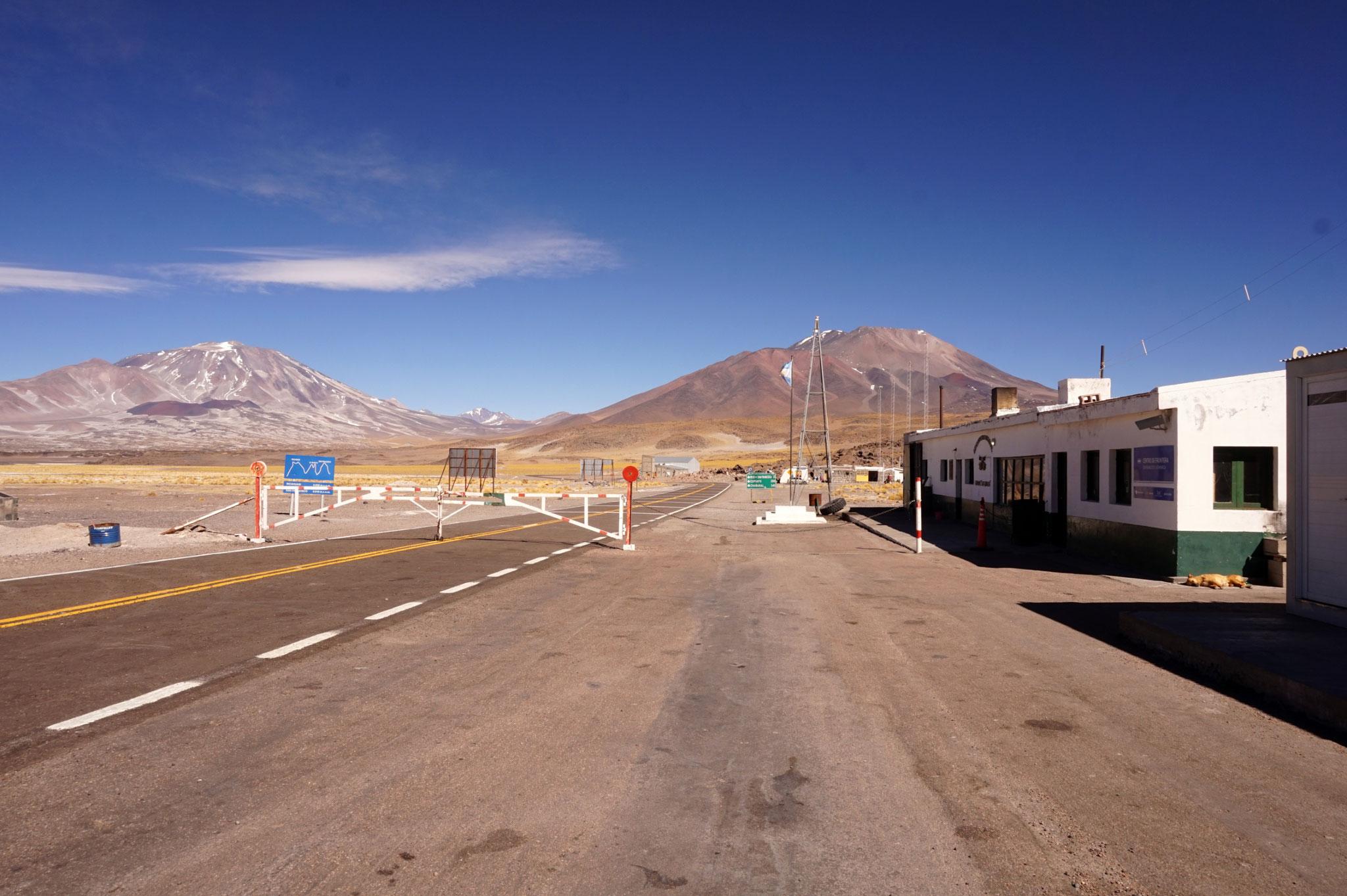 Der argentinische Grenzposten...