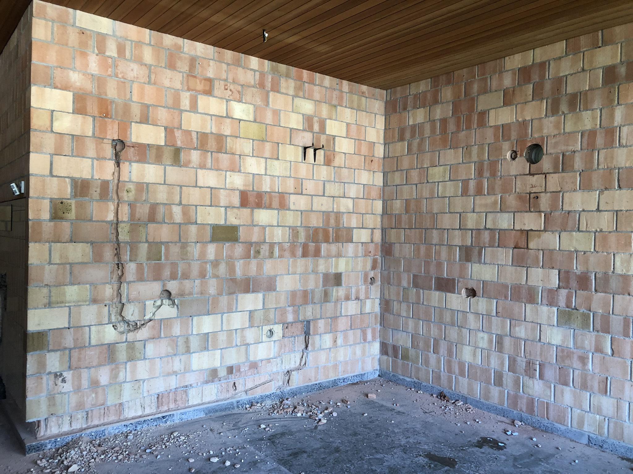 die Wände der neuen Küche