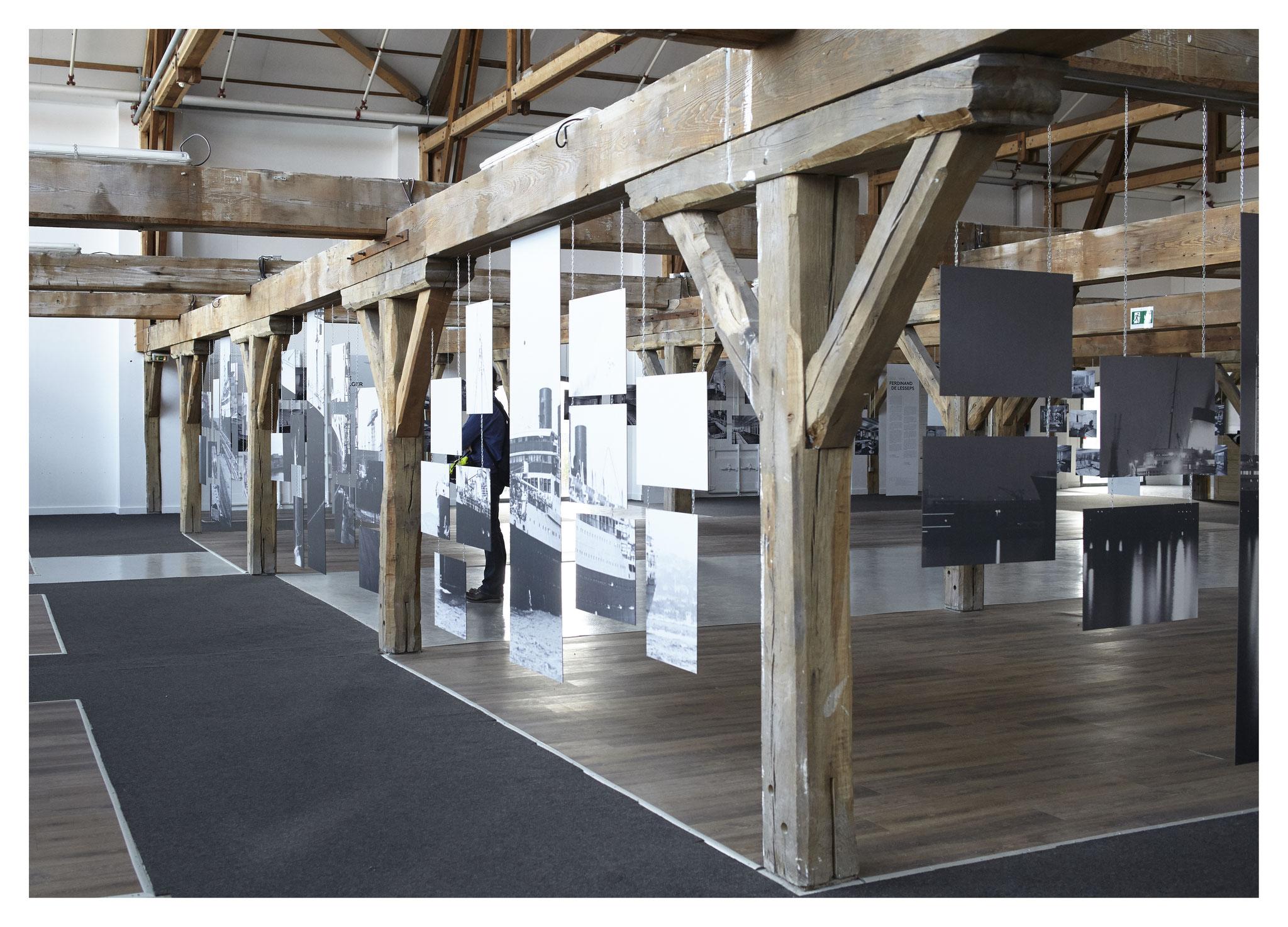 Espace blanc - Verso, photographies grand format fragmentées des paquebots