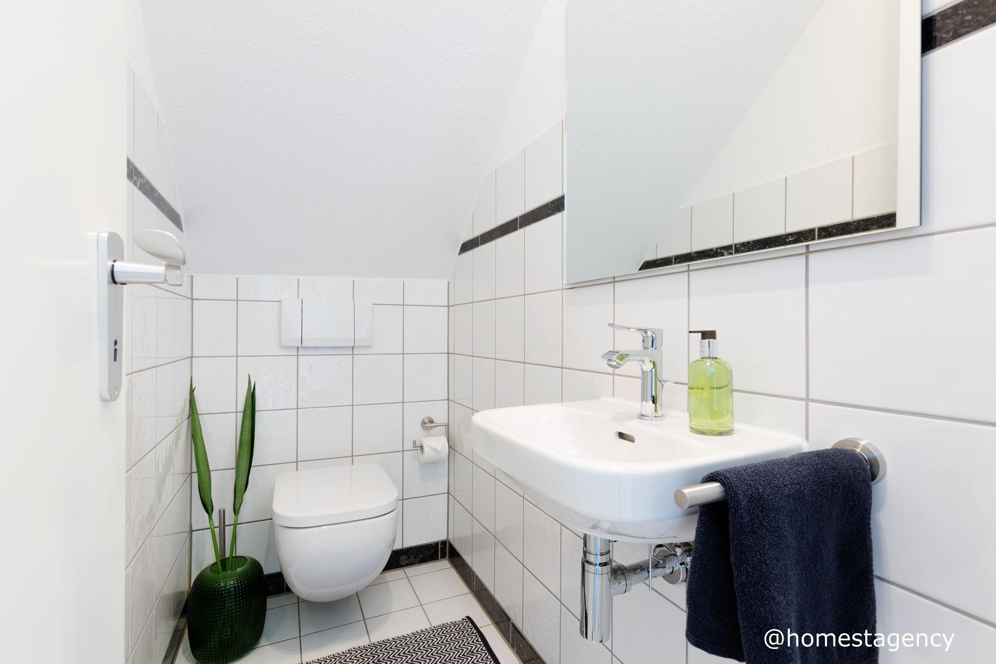 Gäste-WC mit Home Staging