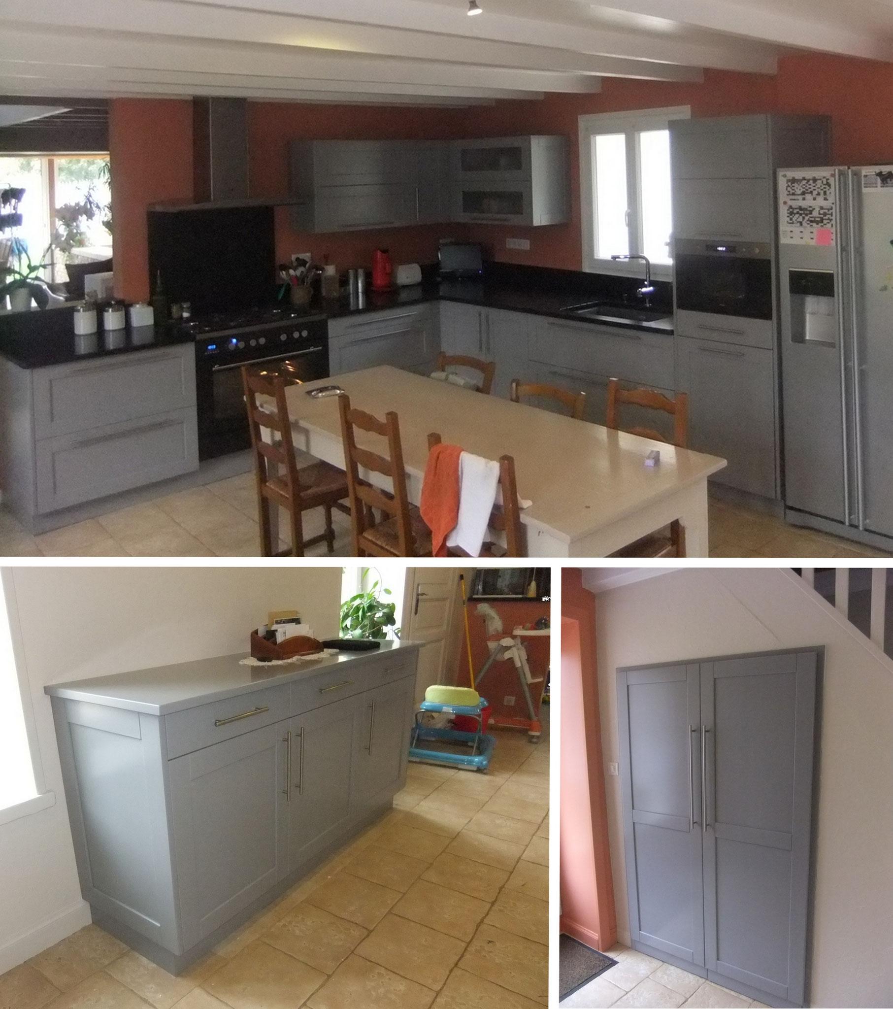 Mobilier et porte de placard assortie a la cuisine