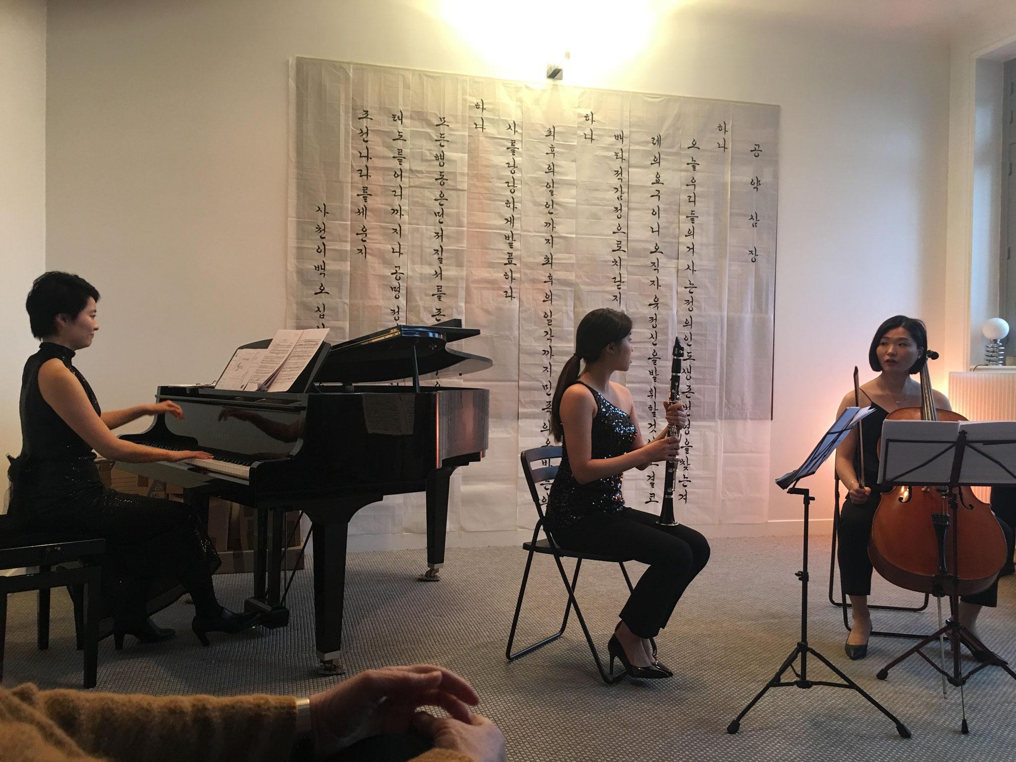 Bitna Yoon (Clarinette) et Emma Seul Lee (Violoncelle).
