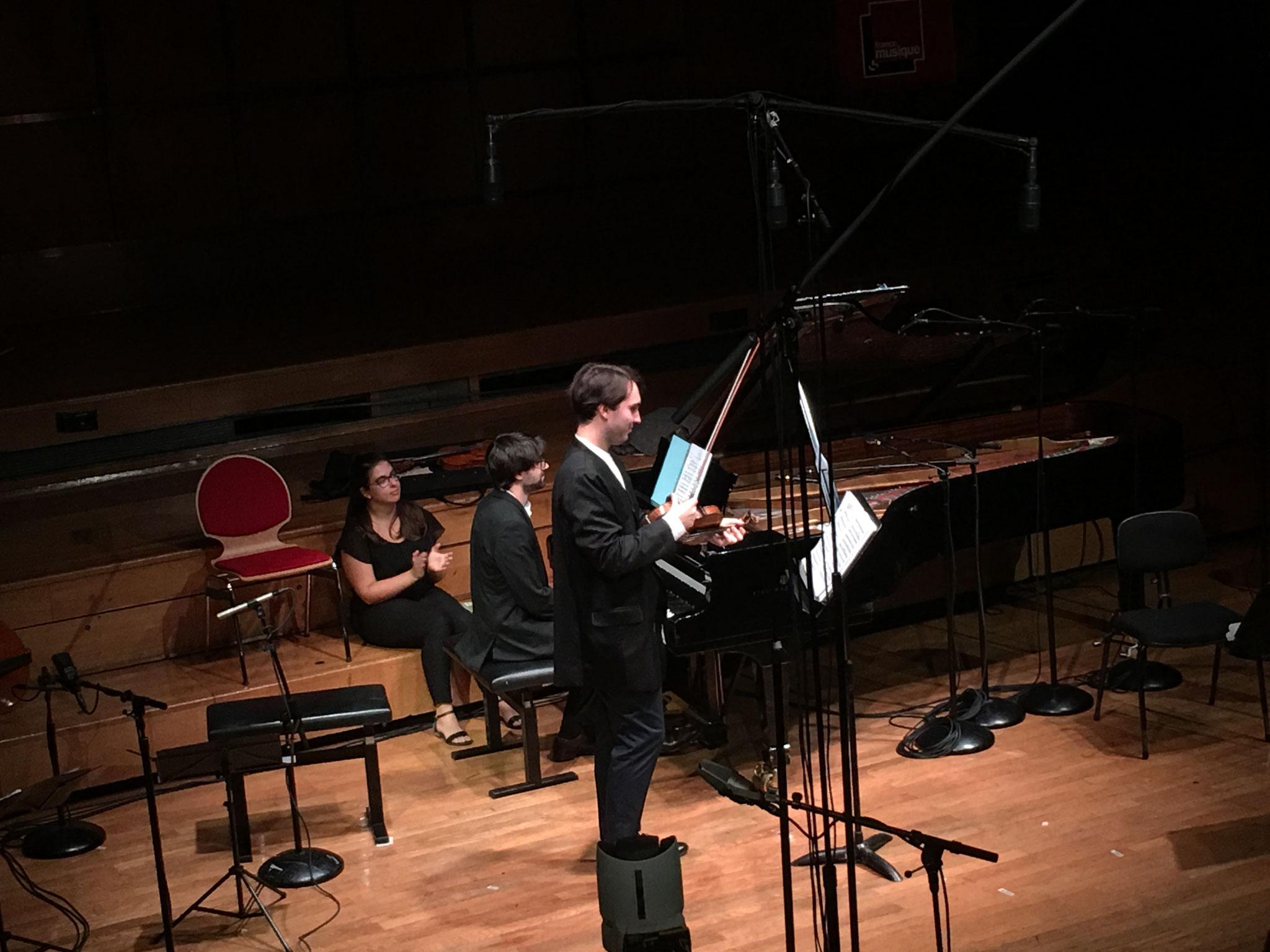 France Musique 13 Octobre 2018. François Pineau Benois (violon) Jonathan Nematnu (piano)