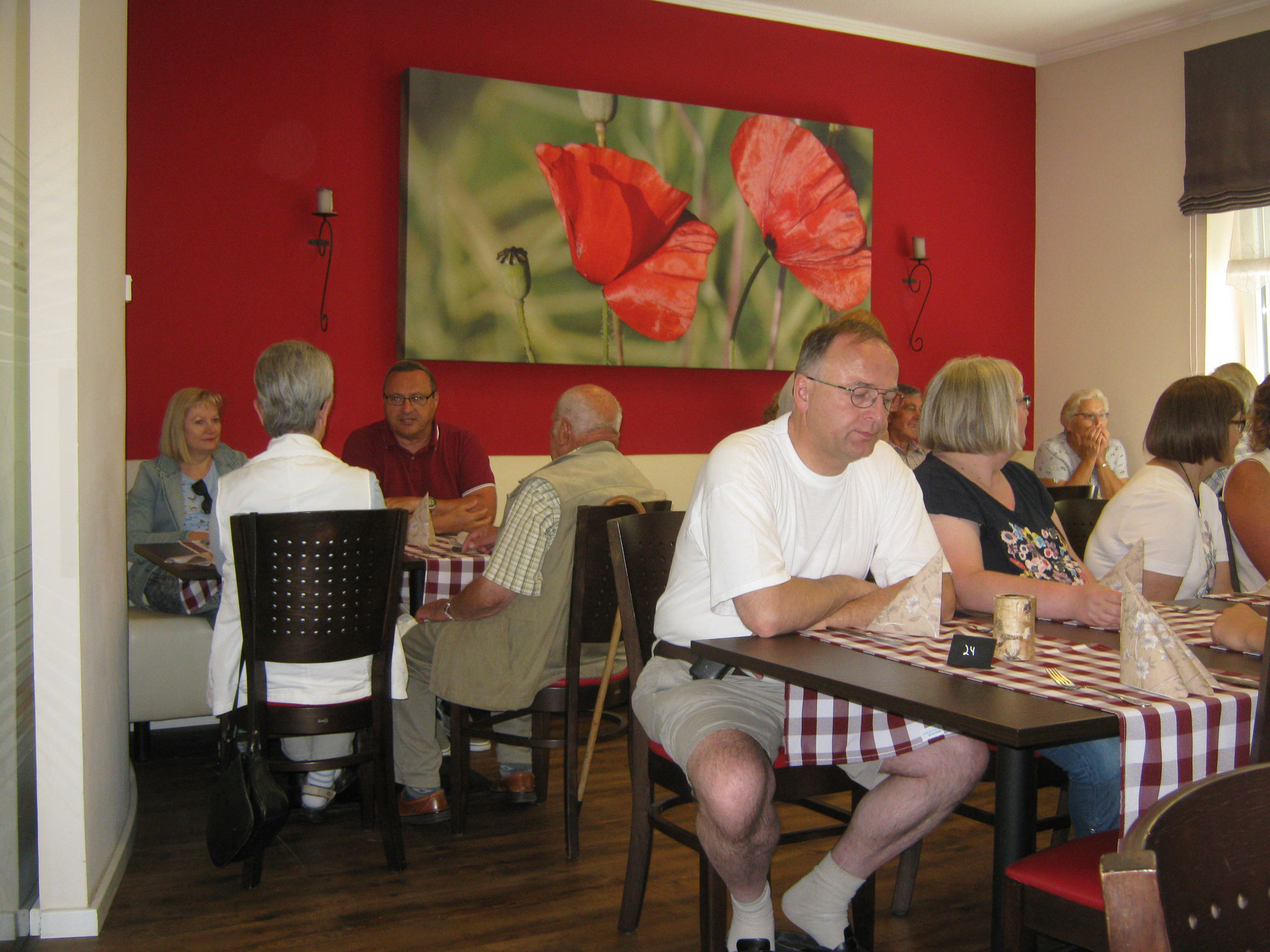 Beim Mittagessen in Scharnebeck