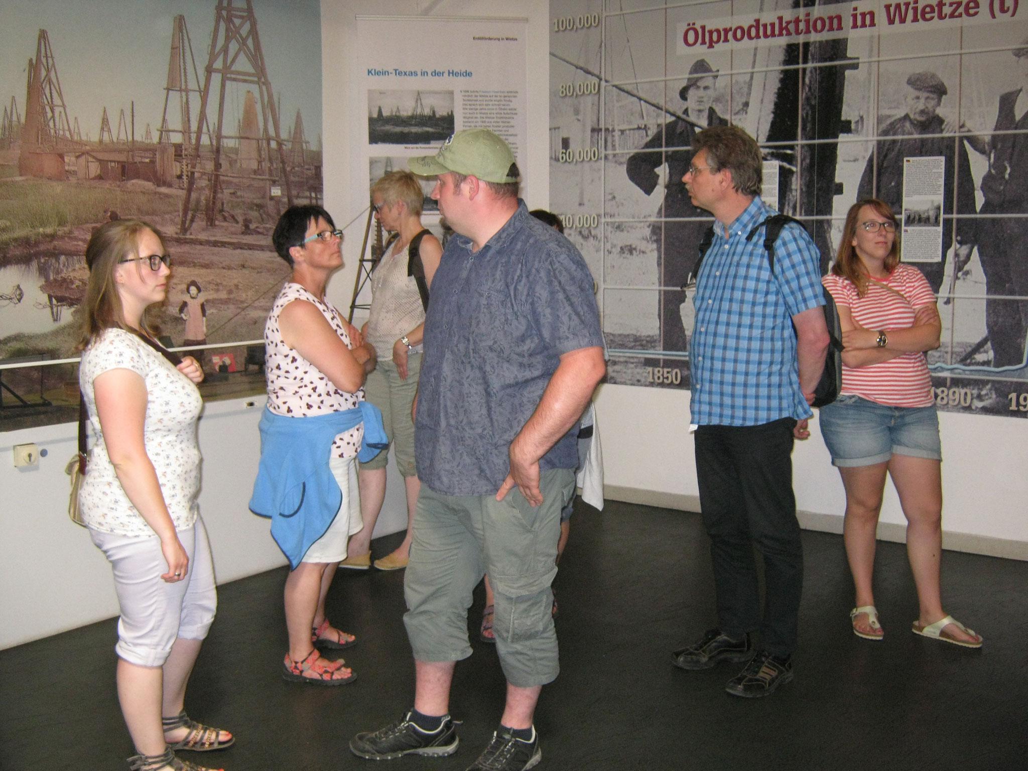 Während der Führung durch das Museum