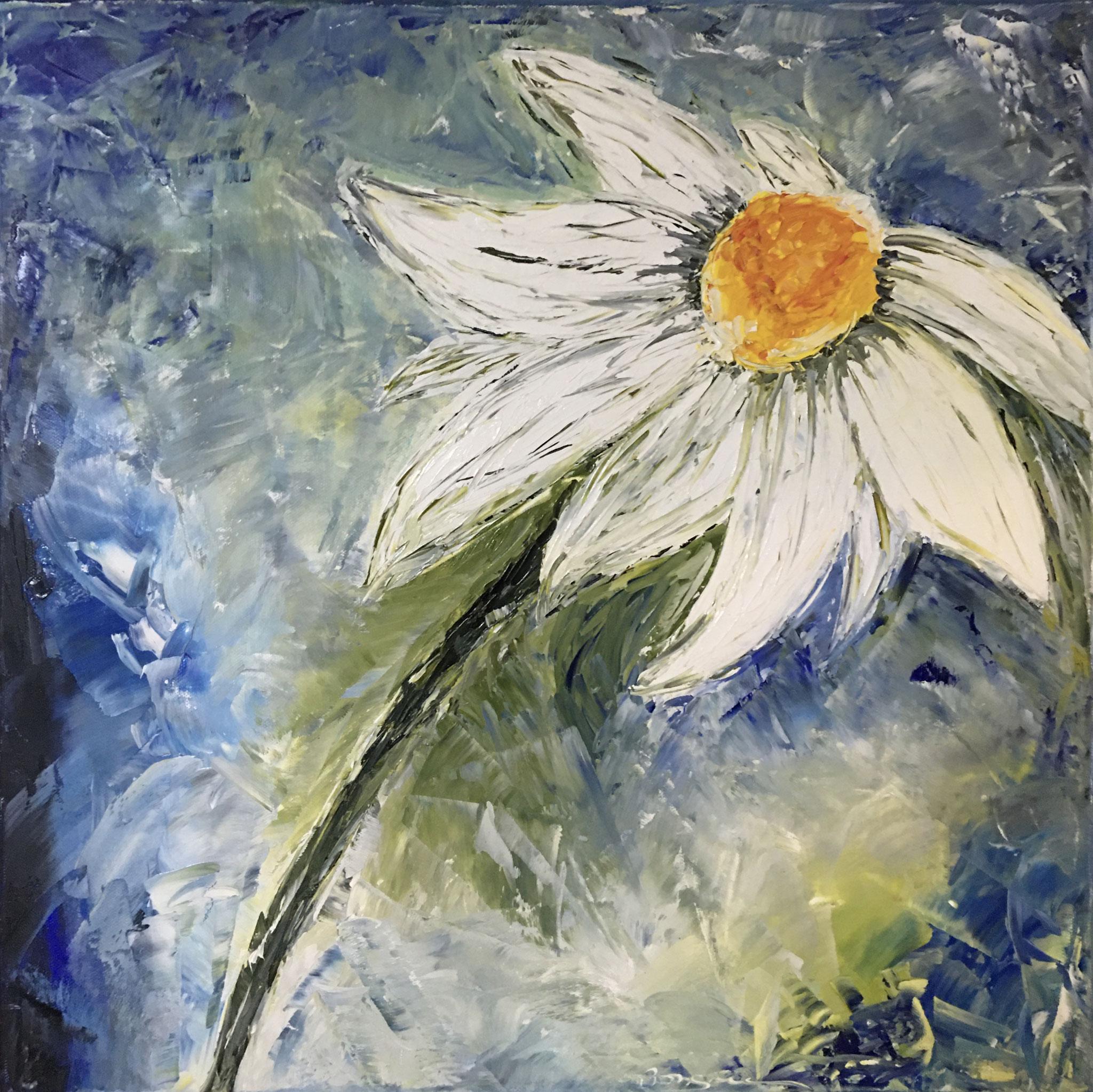 """""""Margarete"""", Öl auf Leinwand 50 x 50 cm, gespachtelt"""