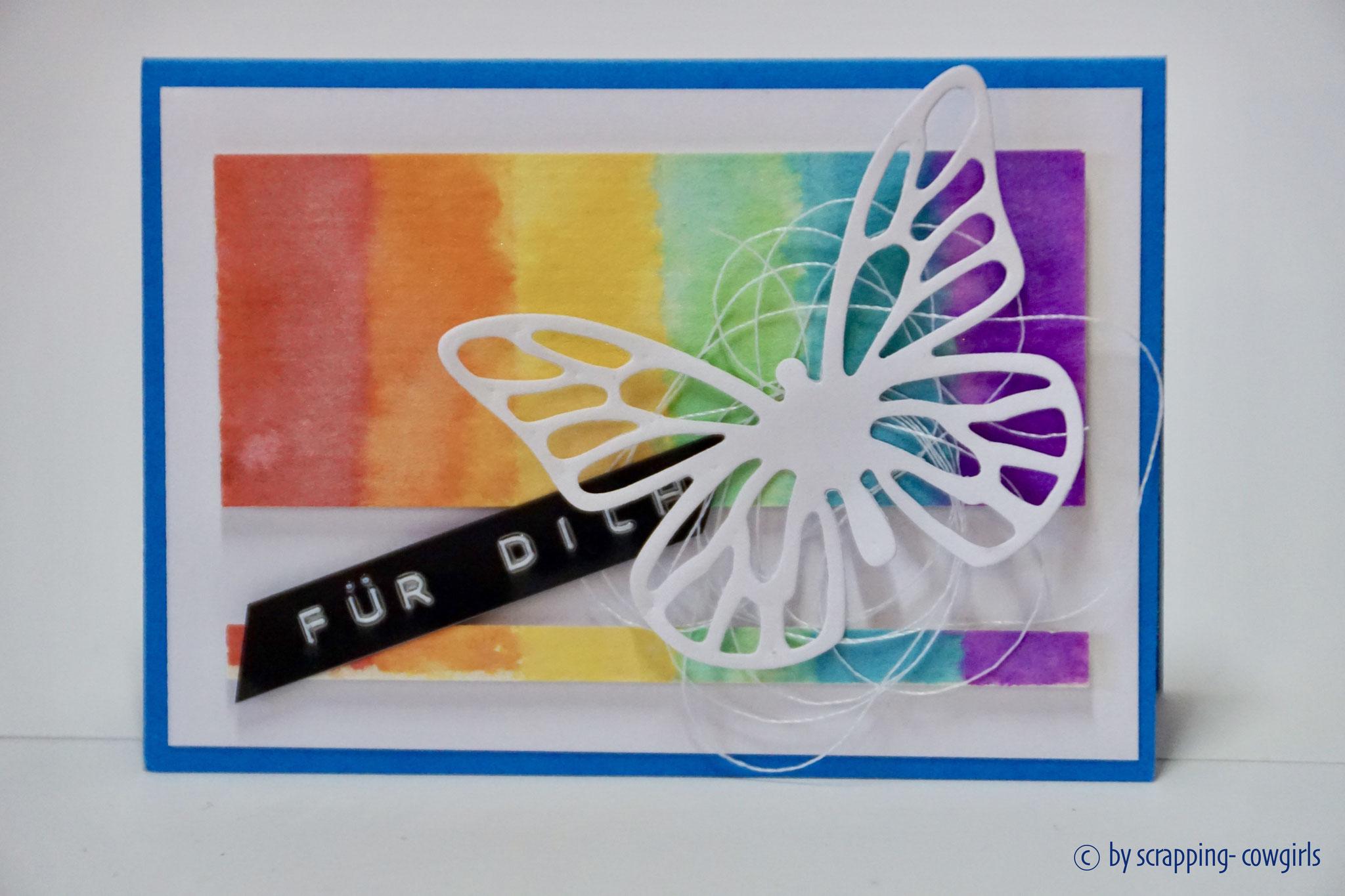 Regenbogen Schmetterling klein