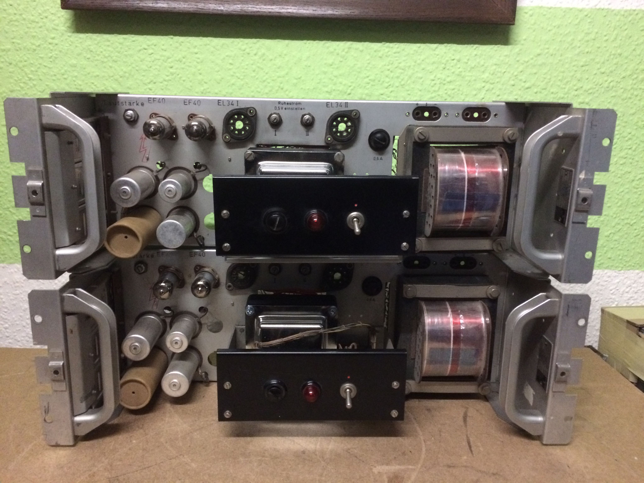 SIEMENS 6 S ELA tube amplifier with  2 x EL34 in PP mode