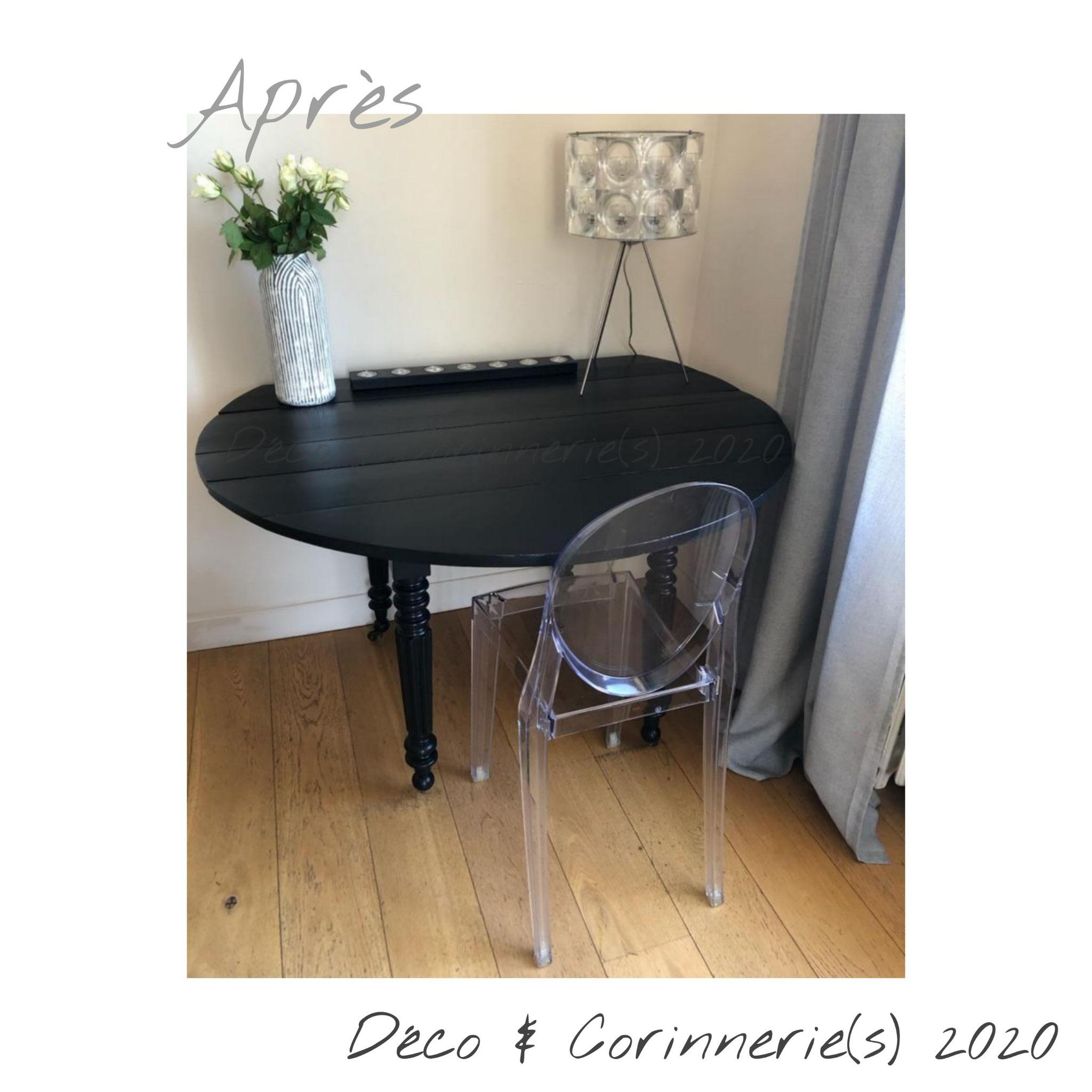 #Après #Table monochrome Noir - Réalisation Déco & Corinnerie(s)