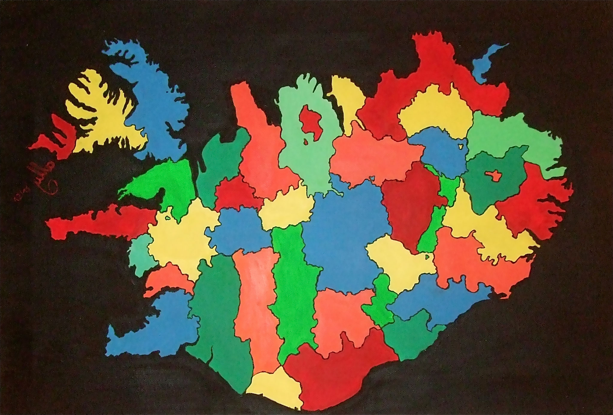Connection (2012) - Acryl on canvas