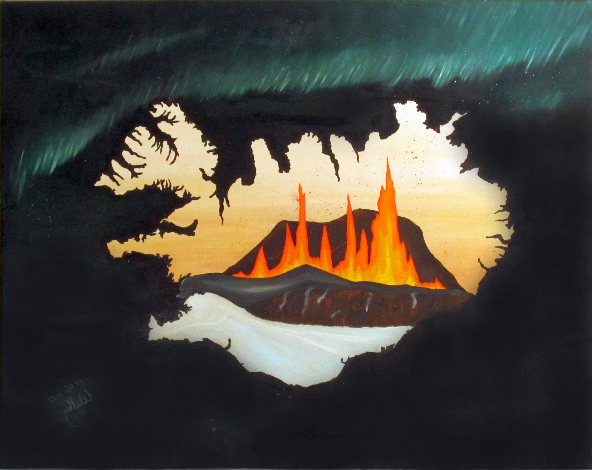 Eyjafjallajökull (2011) - Oil on canvas
