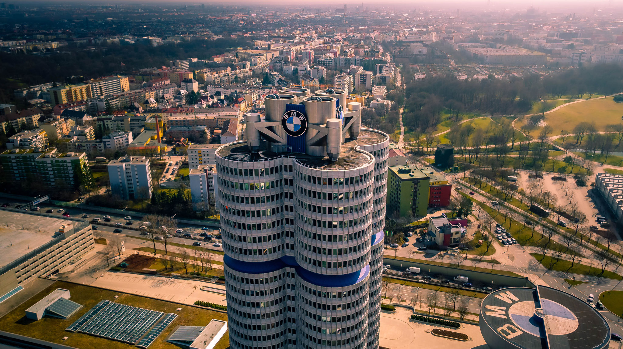 Luftaufnahme BMW München