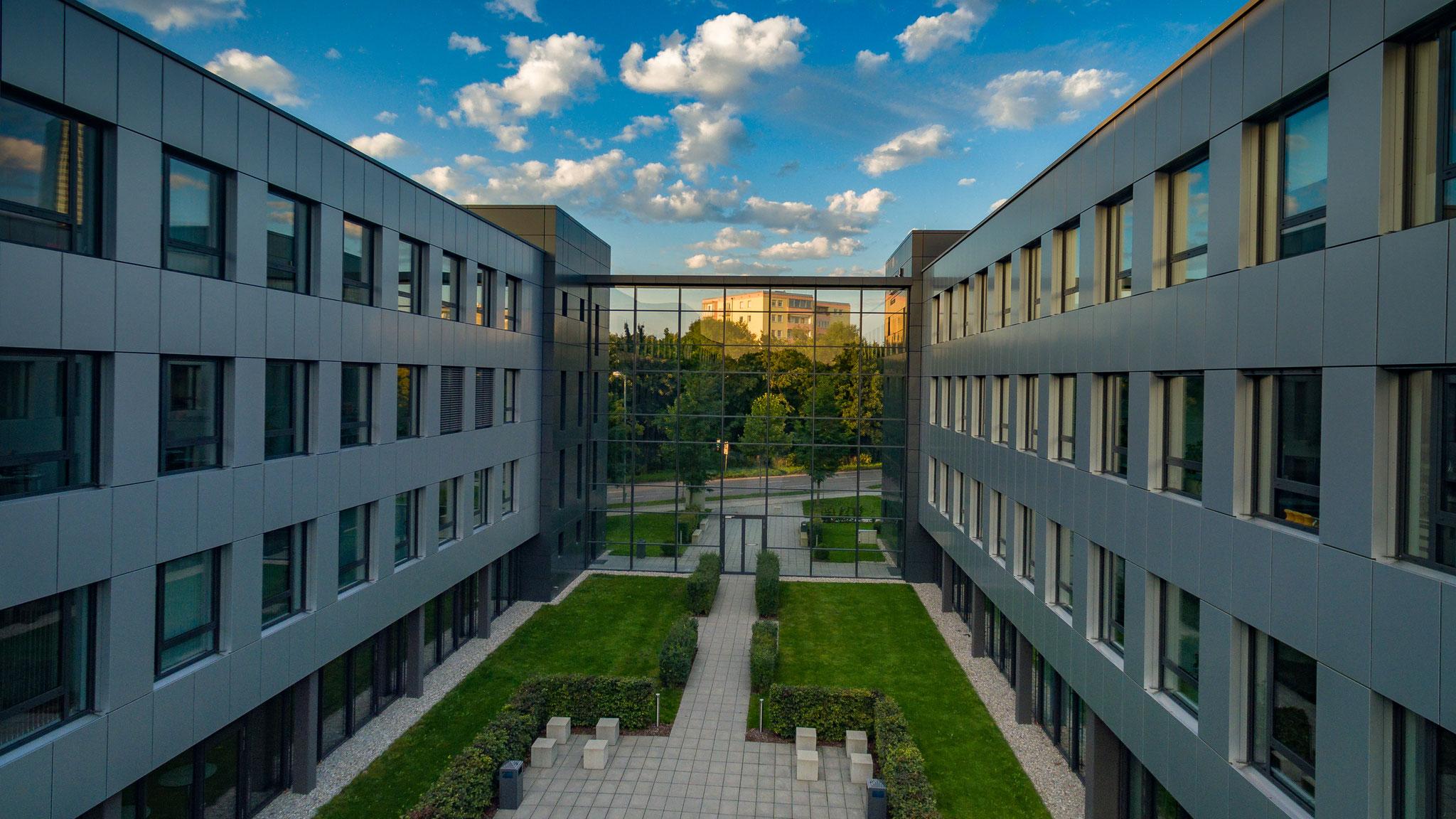 Luftaufnahme Büro-Immobilie München