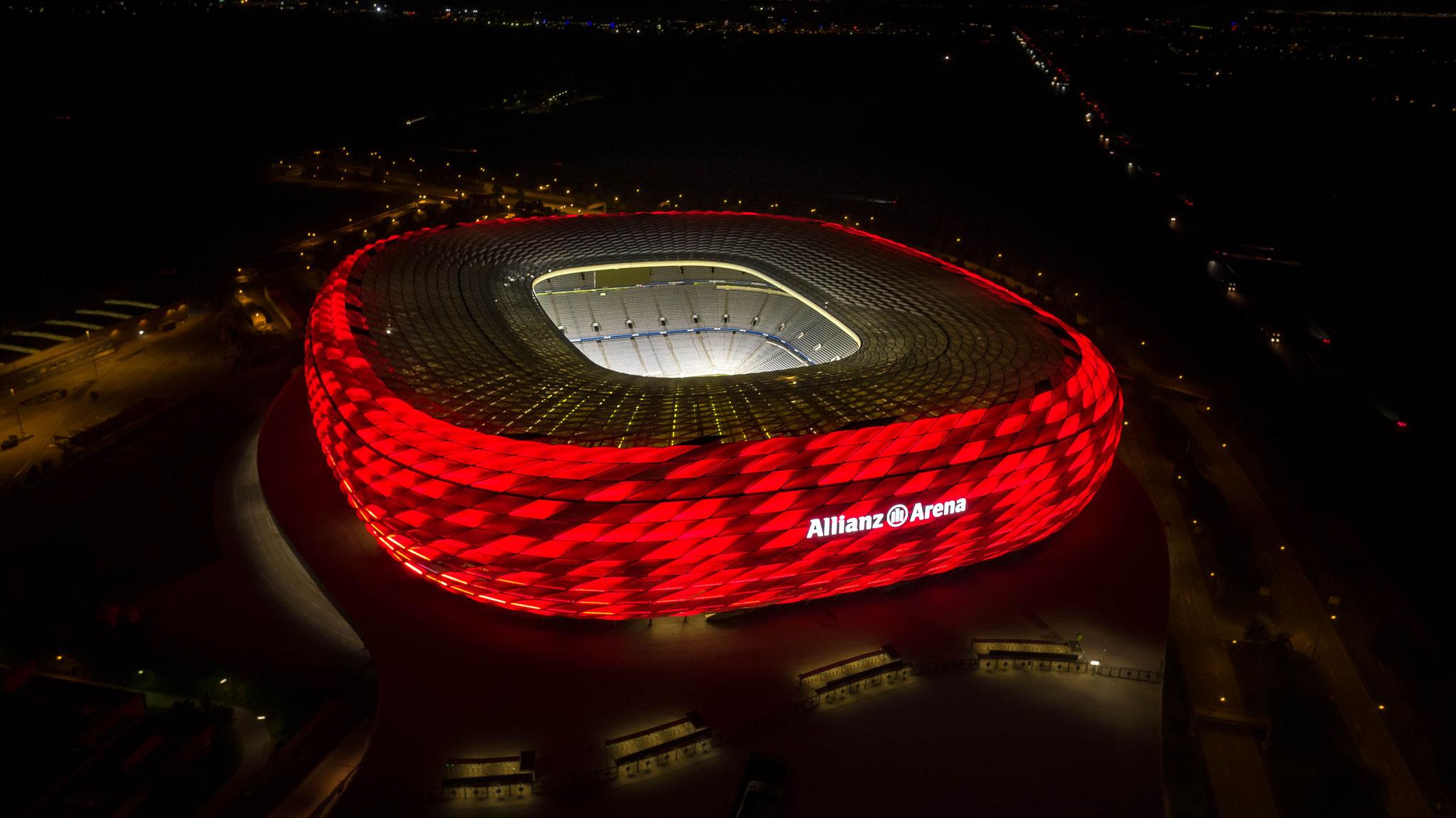 Luftaufnahme Allianz Arena, München