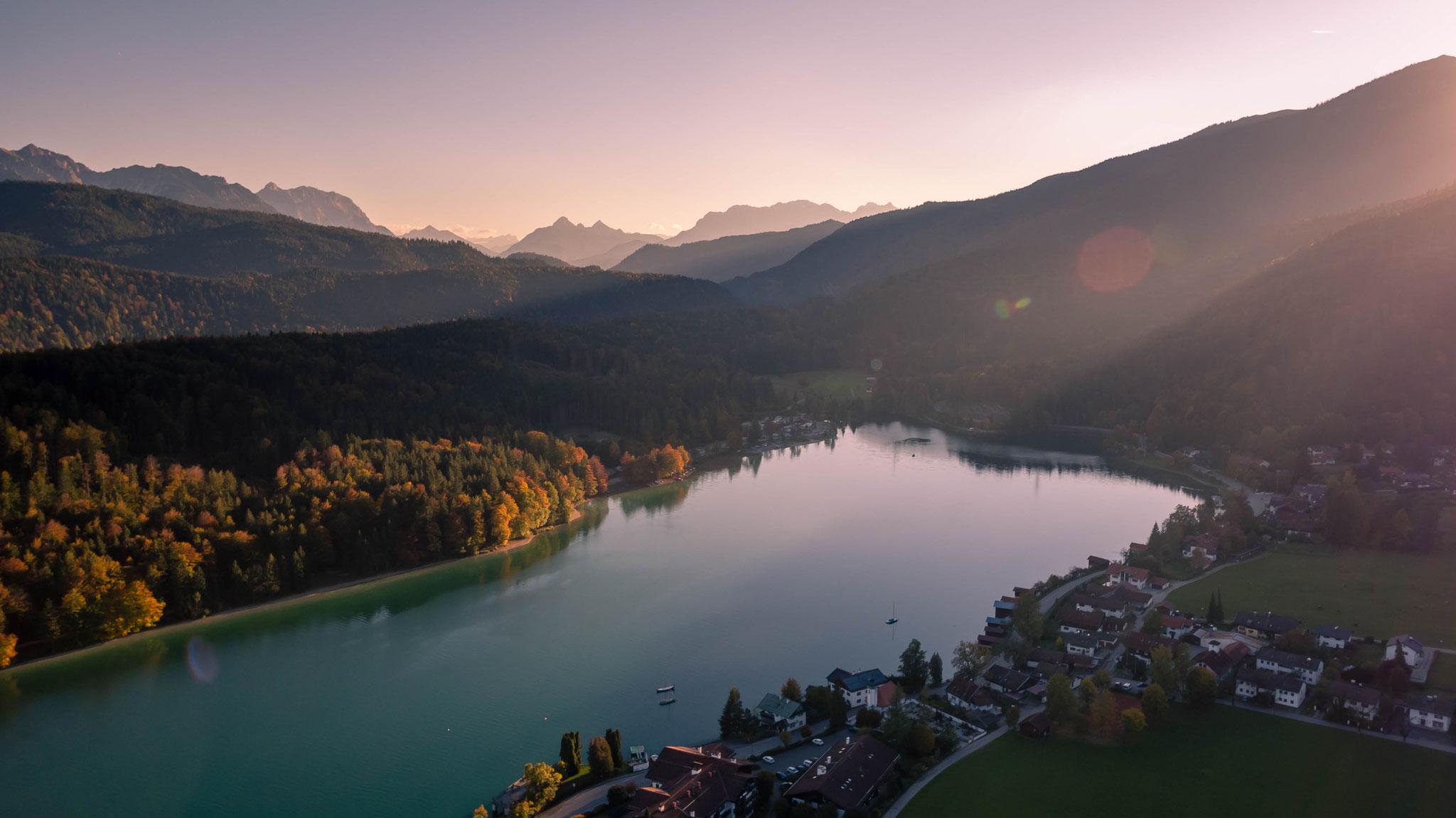 Luftaufnahme Walchensee, Bayern