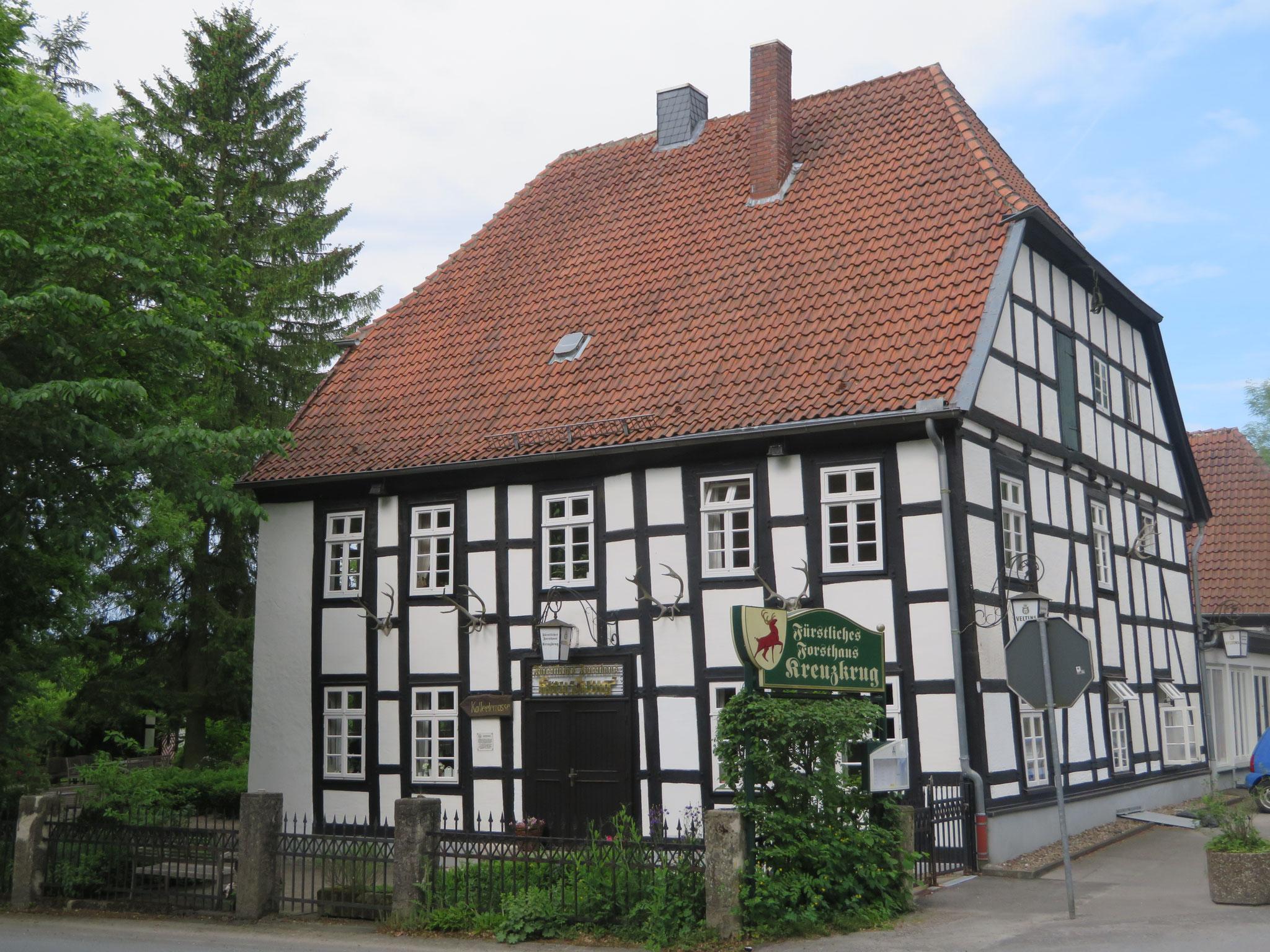 Fürstliches Forsthaus Kreuzkrug an der Gauseköte