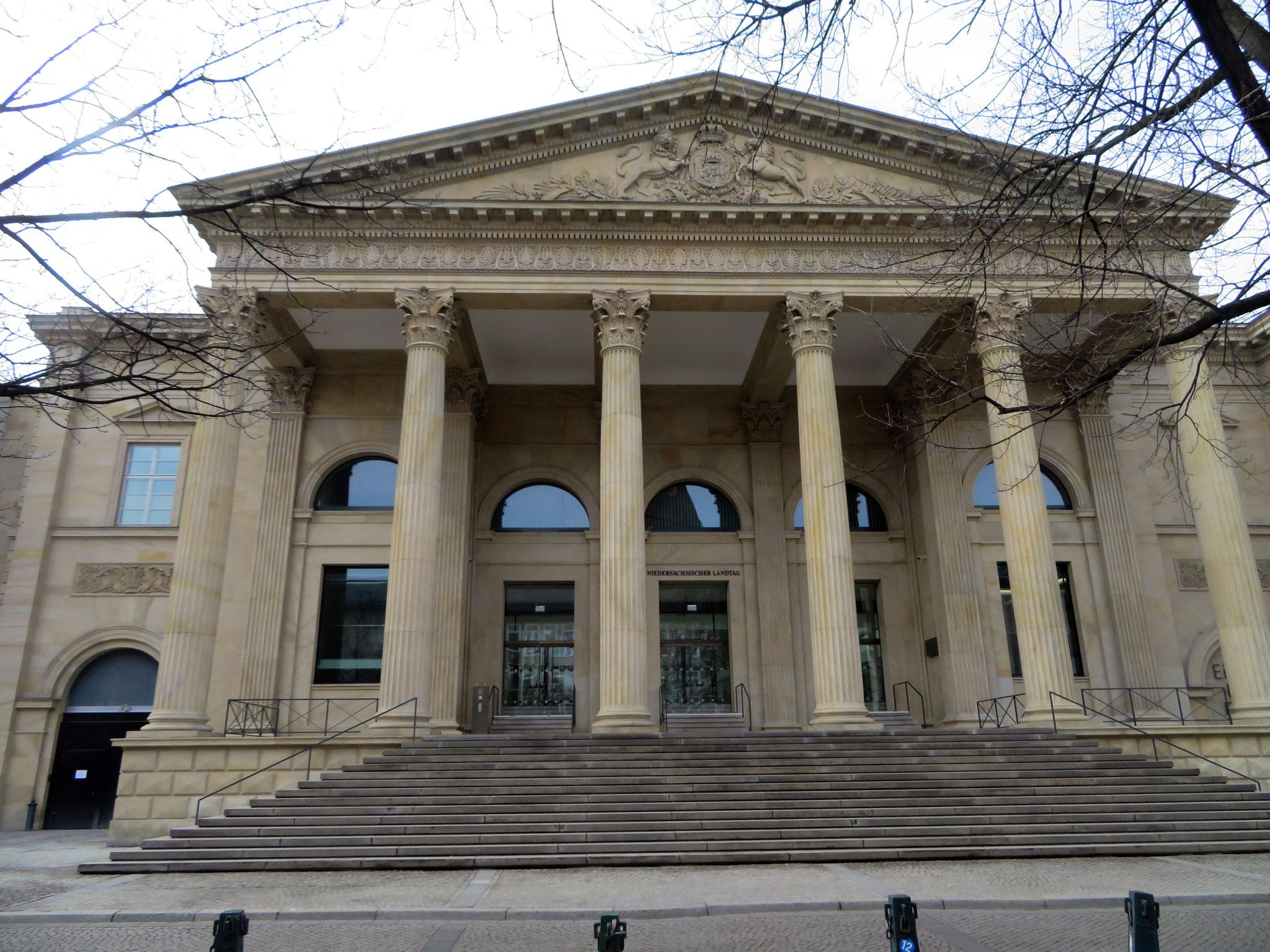 Eingang niedersächsicher Landtag