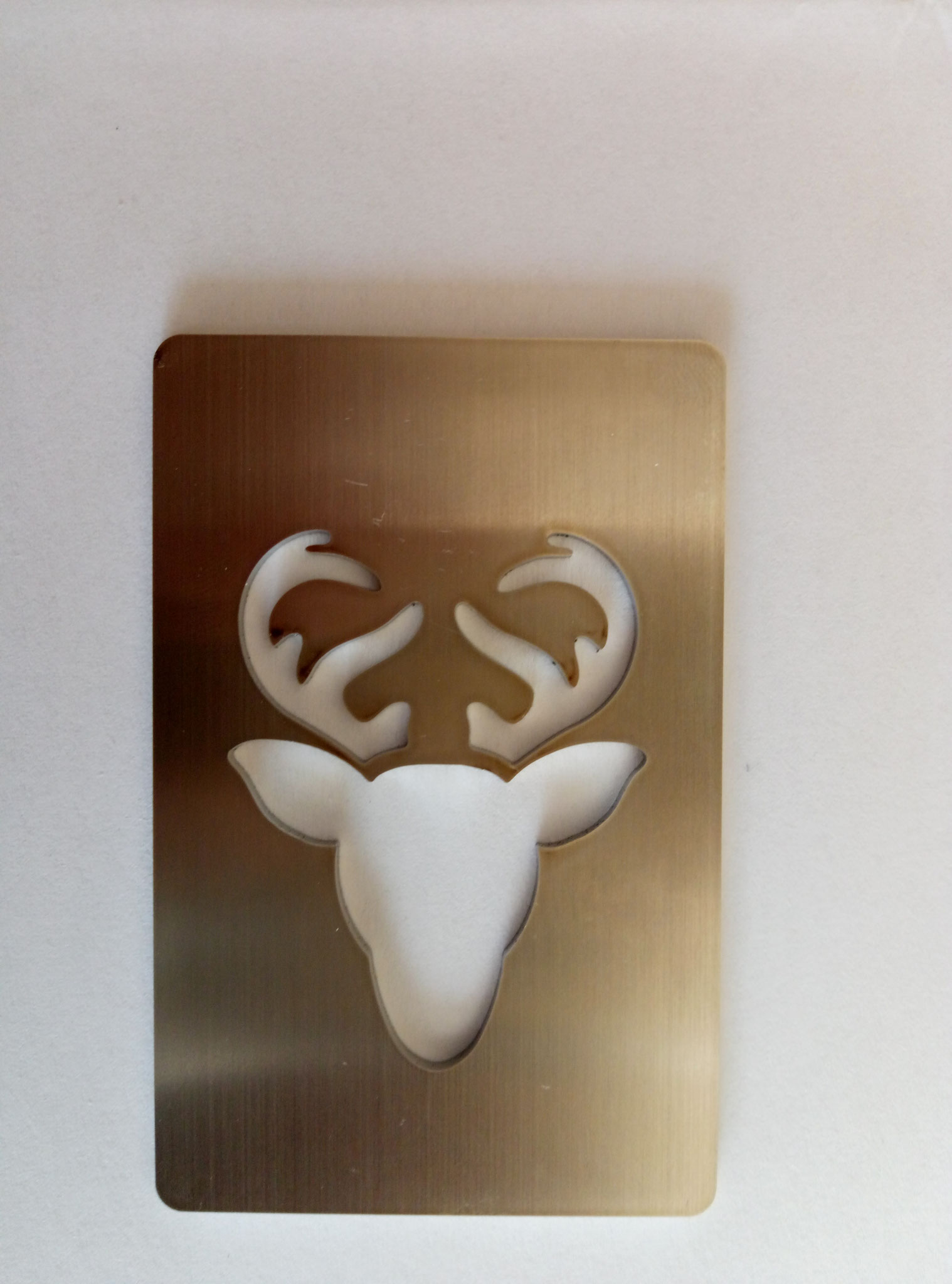 stainless steel card laser cutting