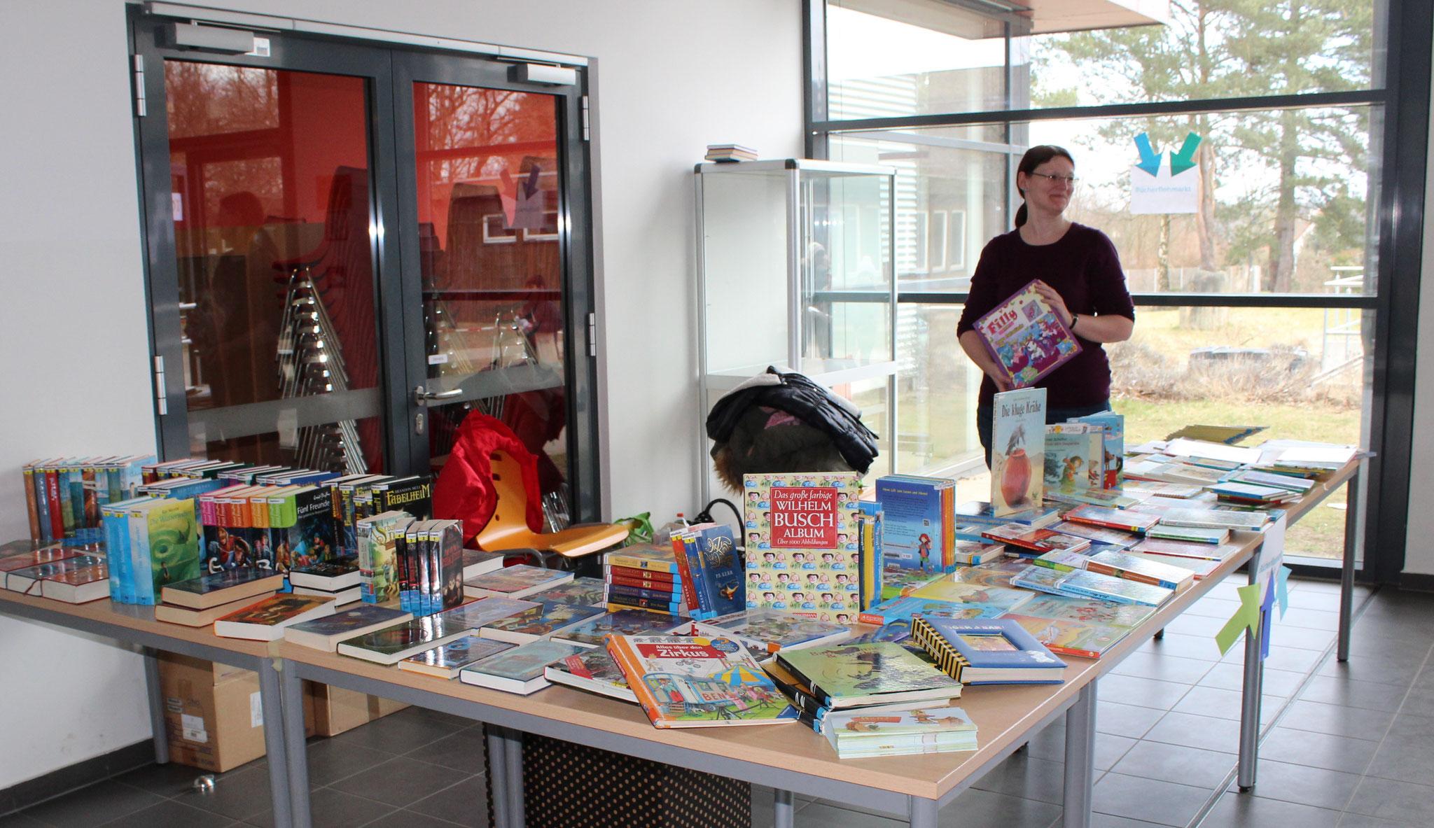 Die Vorbereitungen laufen: Der Büchermarkt,...