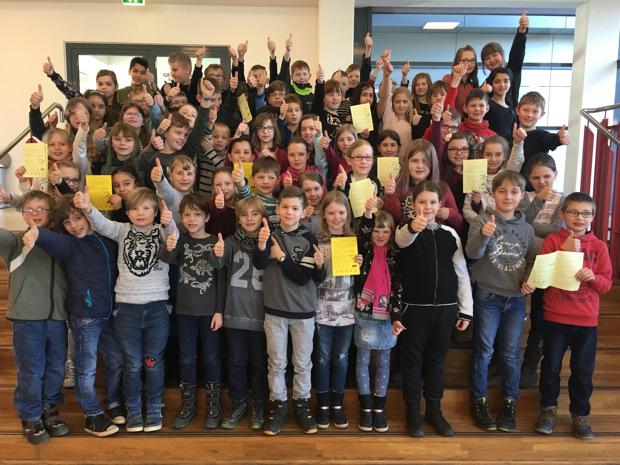 ....folgten 2018 über 60 Schülerinnen und Schüler der Grundschule in der Oberstadt.