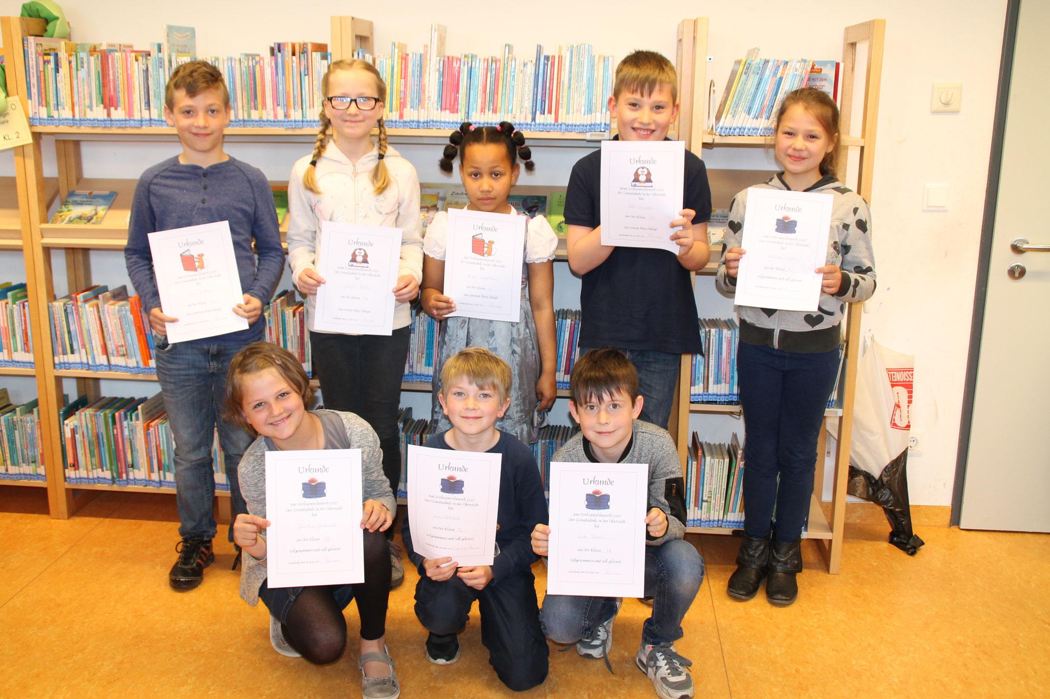 Jeder Leser erhielt für seine Leistungen eine Urkunde (Kl. 3)