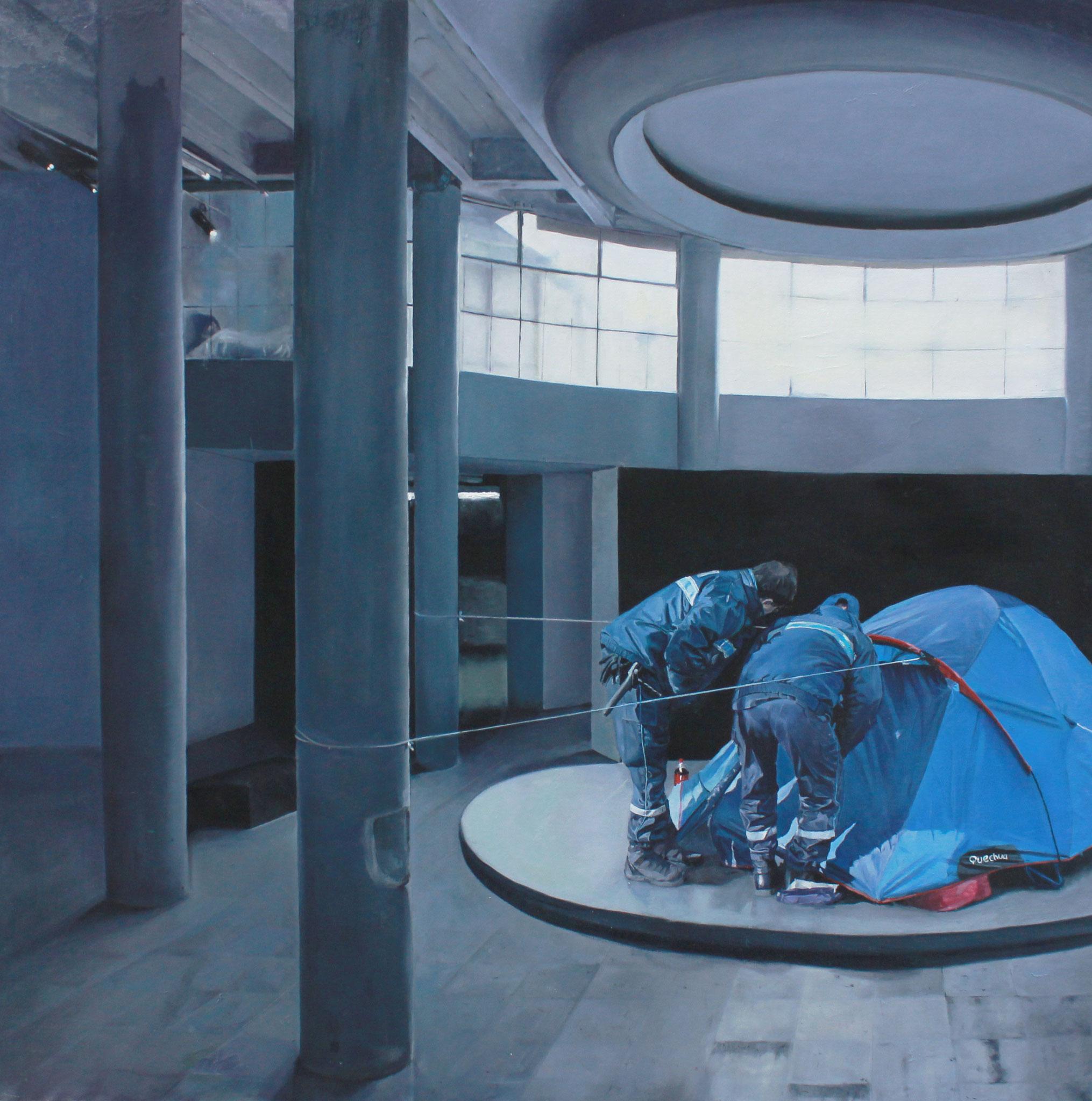 Entre deux Huile sur toile  150 cm x 150cm  2015