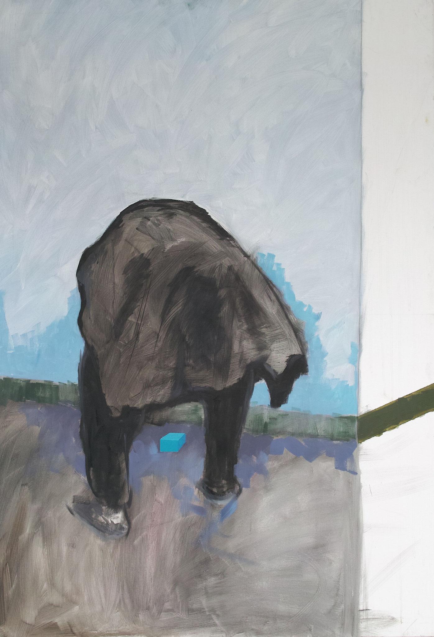Sans titre Huile sur toile  120 cmx 90 cm  2014